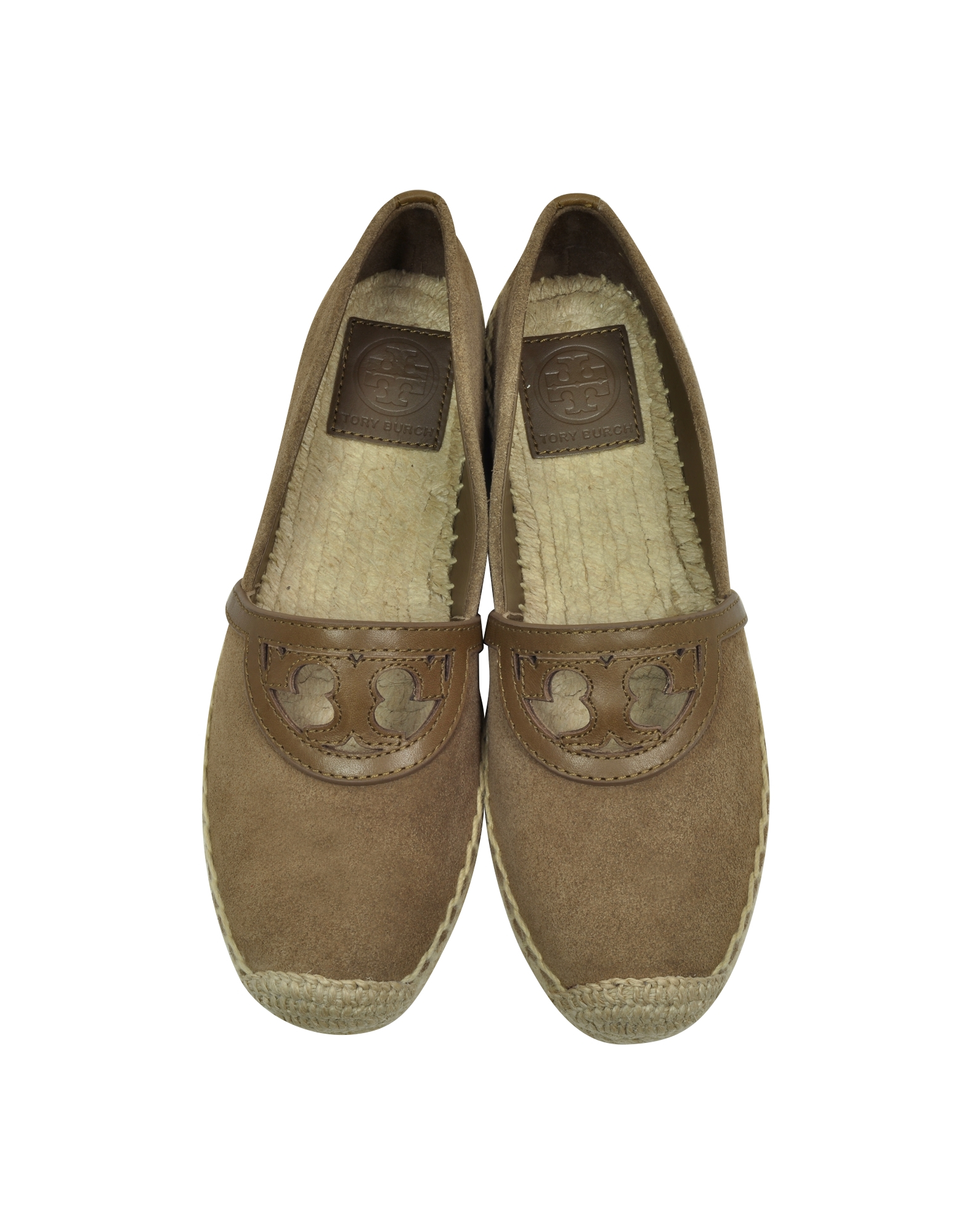 b39ad28e67c1 Lyst - Tory Burch Sidney River Rock Suede And Leather Flat Espadrille