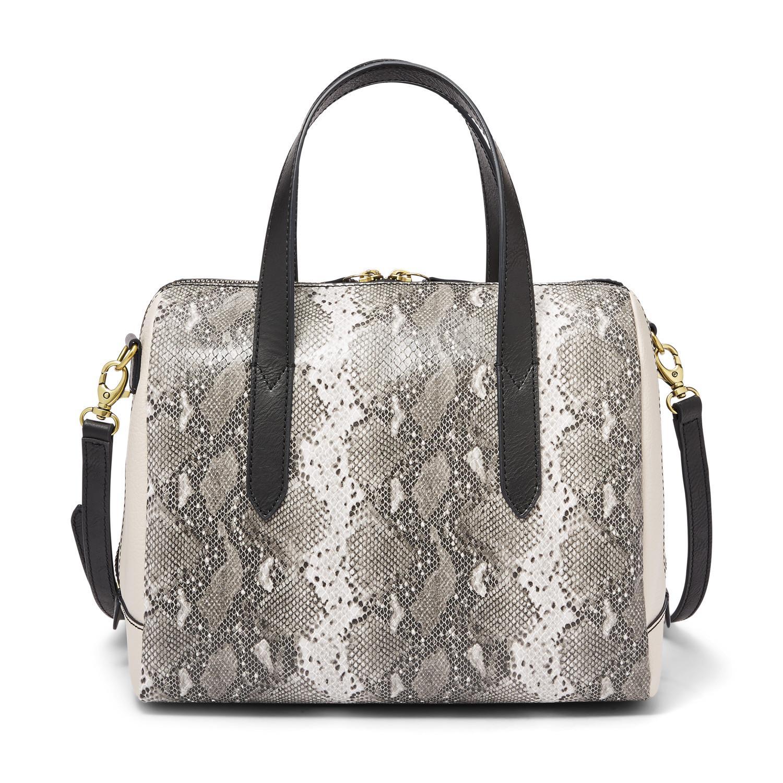 Fossil Sydney Satchel Handbags Python