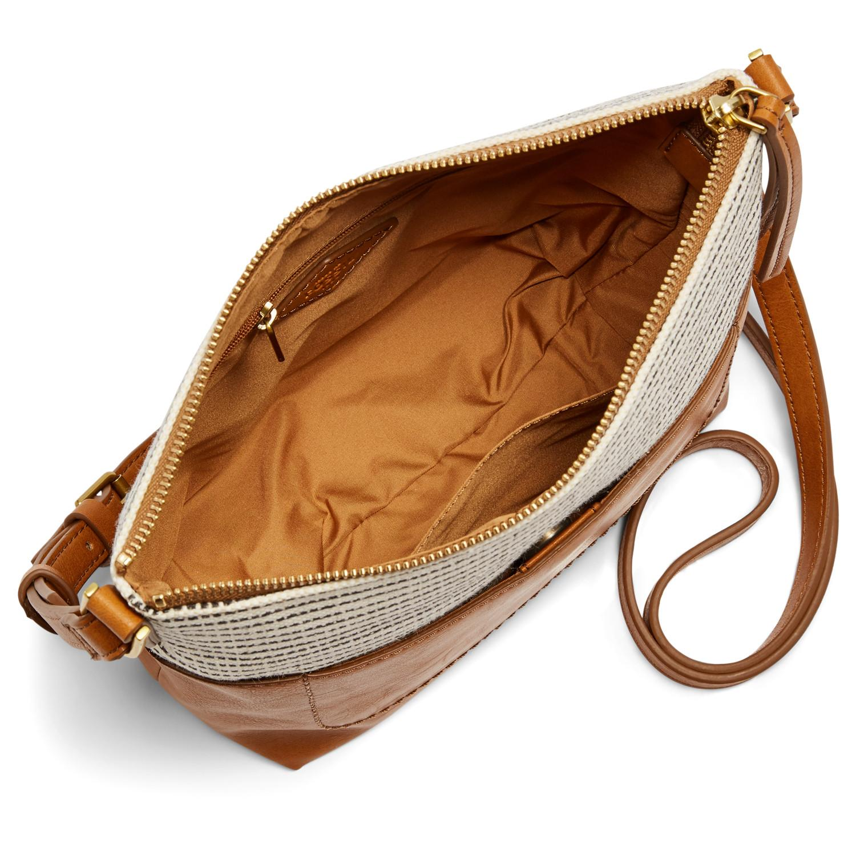 e10e2b0f08e Lyst - Fossil Amelia Crossbody Handbags Black Stripe in Black