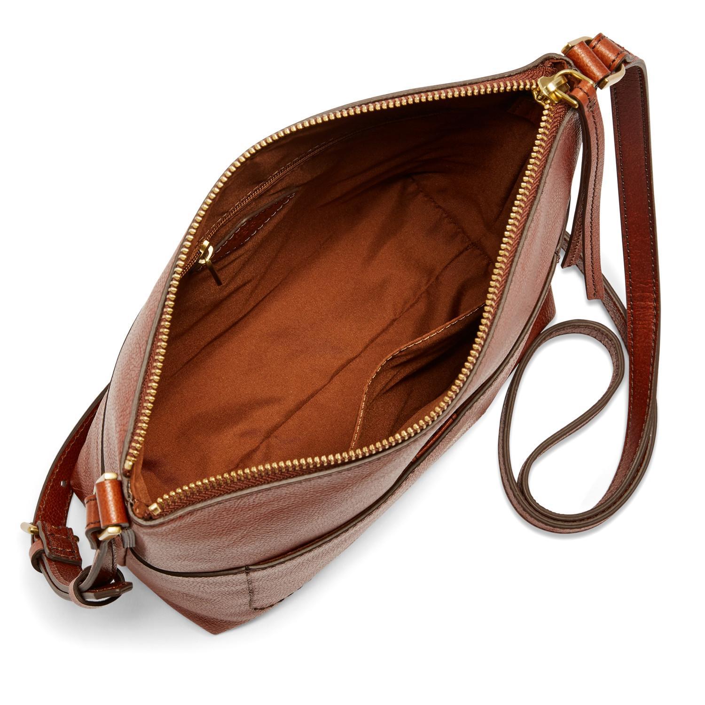 c830969850f Fossil Brown Amelia Crossbody Handbags Brandy