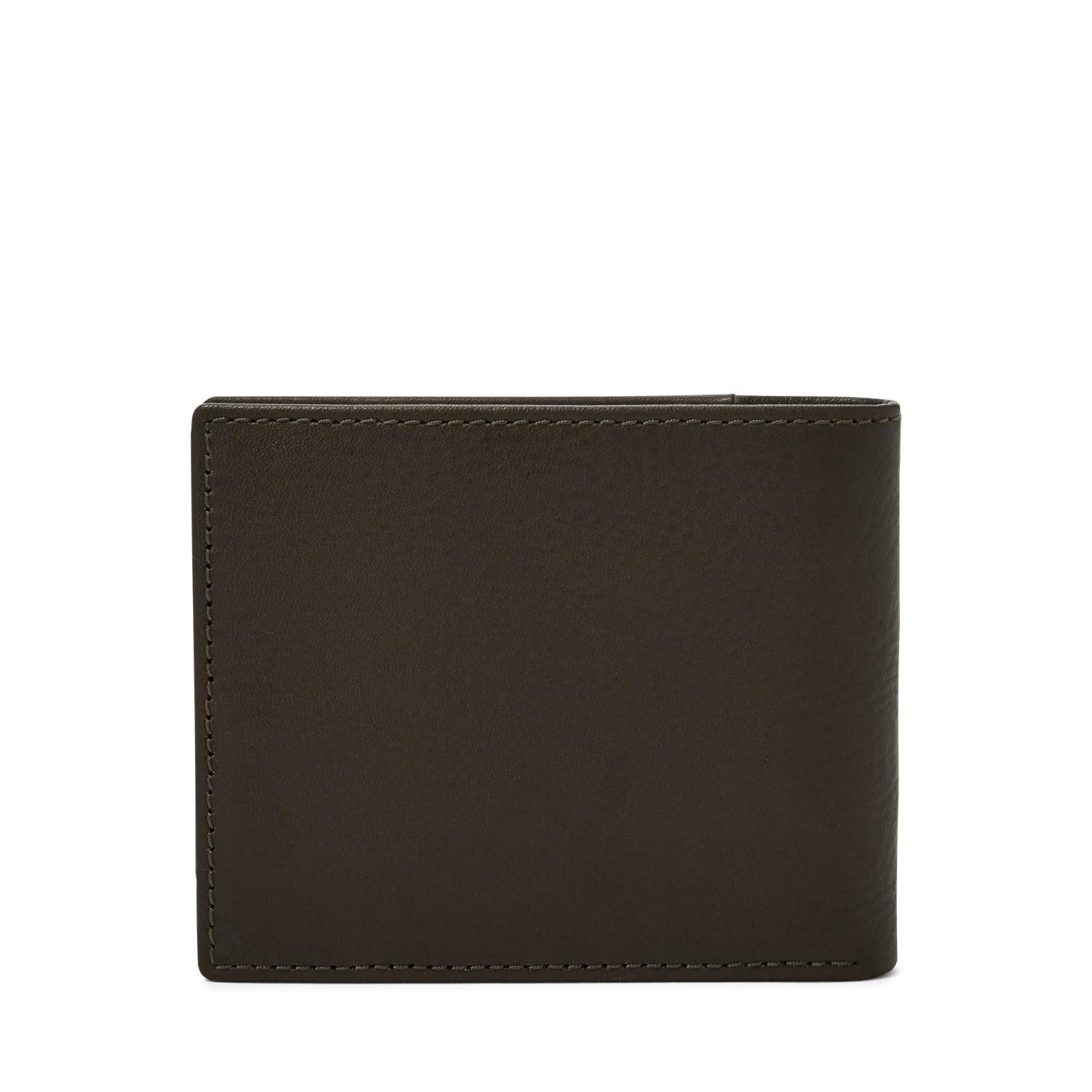 56ac0c2366d6 Men's Ward Rfid Bifold With Flip Id Wallets Dark Brown