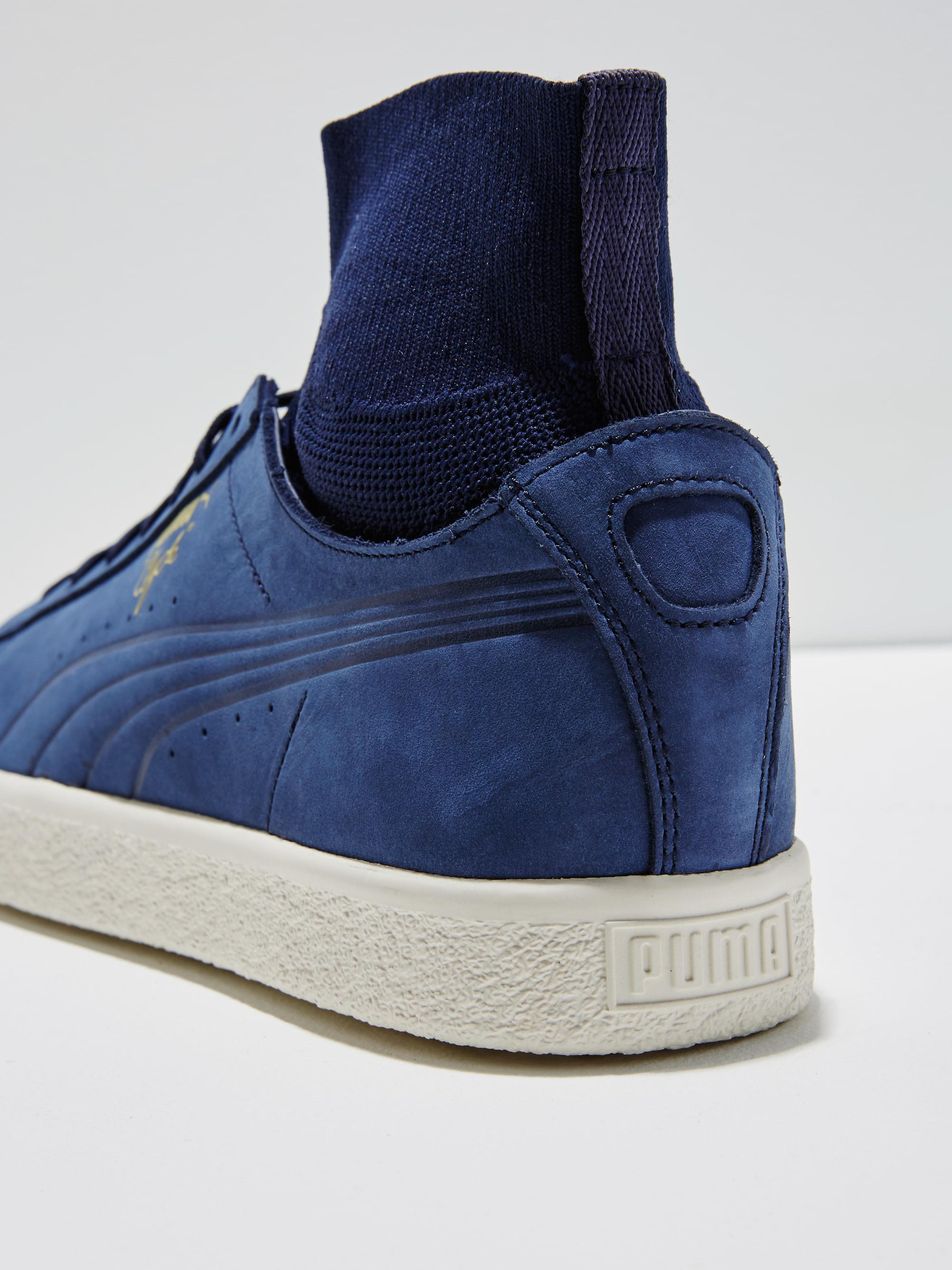 sale retailer 168b3 54033 Frank And Oak Blue Puma Clyde Sock In Peacoat for men