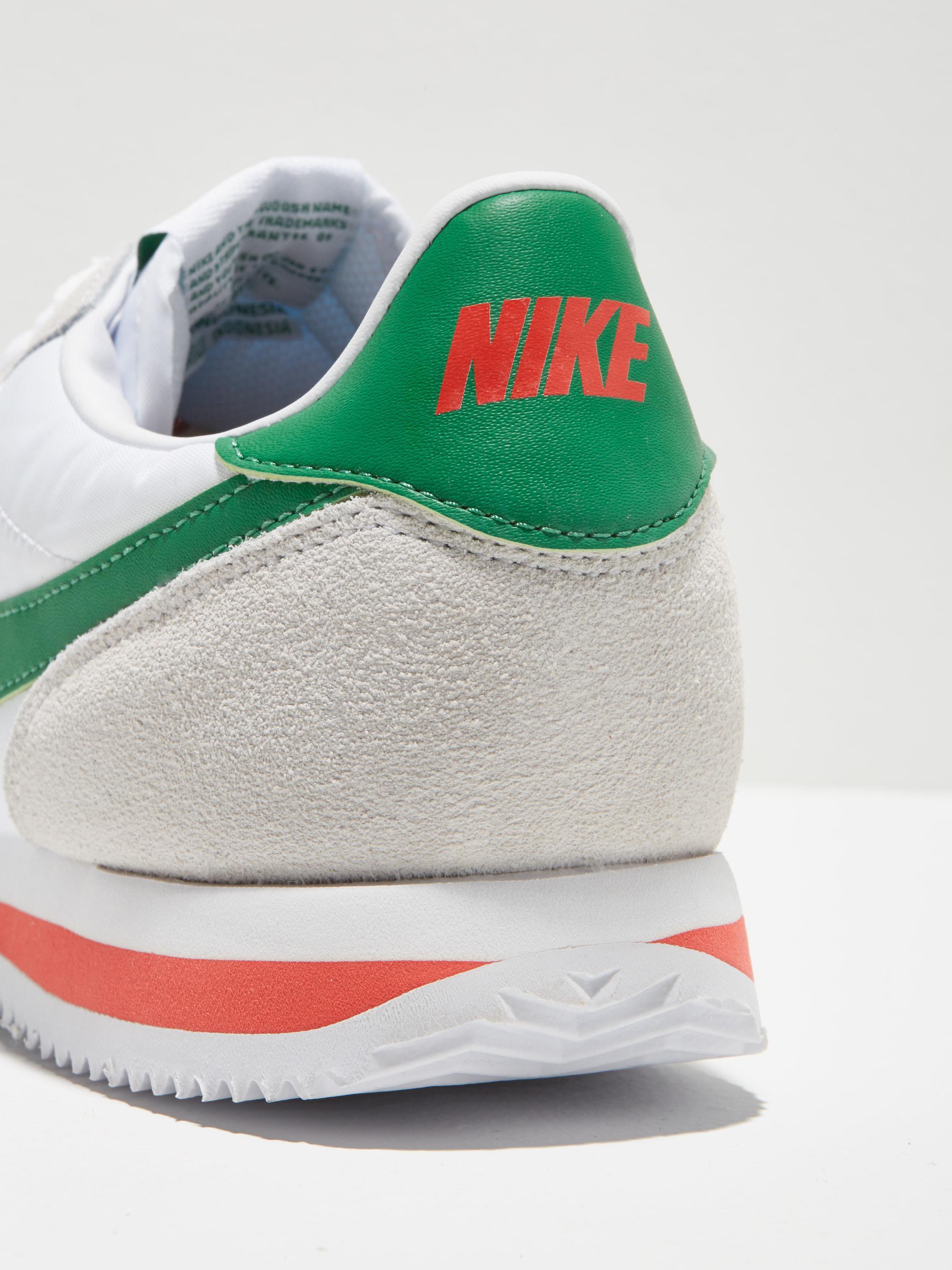 pretty nice 513dc cbbf6 ... Lyst - Frank And Oak Nike Cortez Basic Nylon Shoe In White green in .