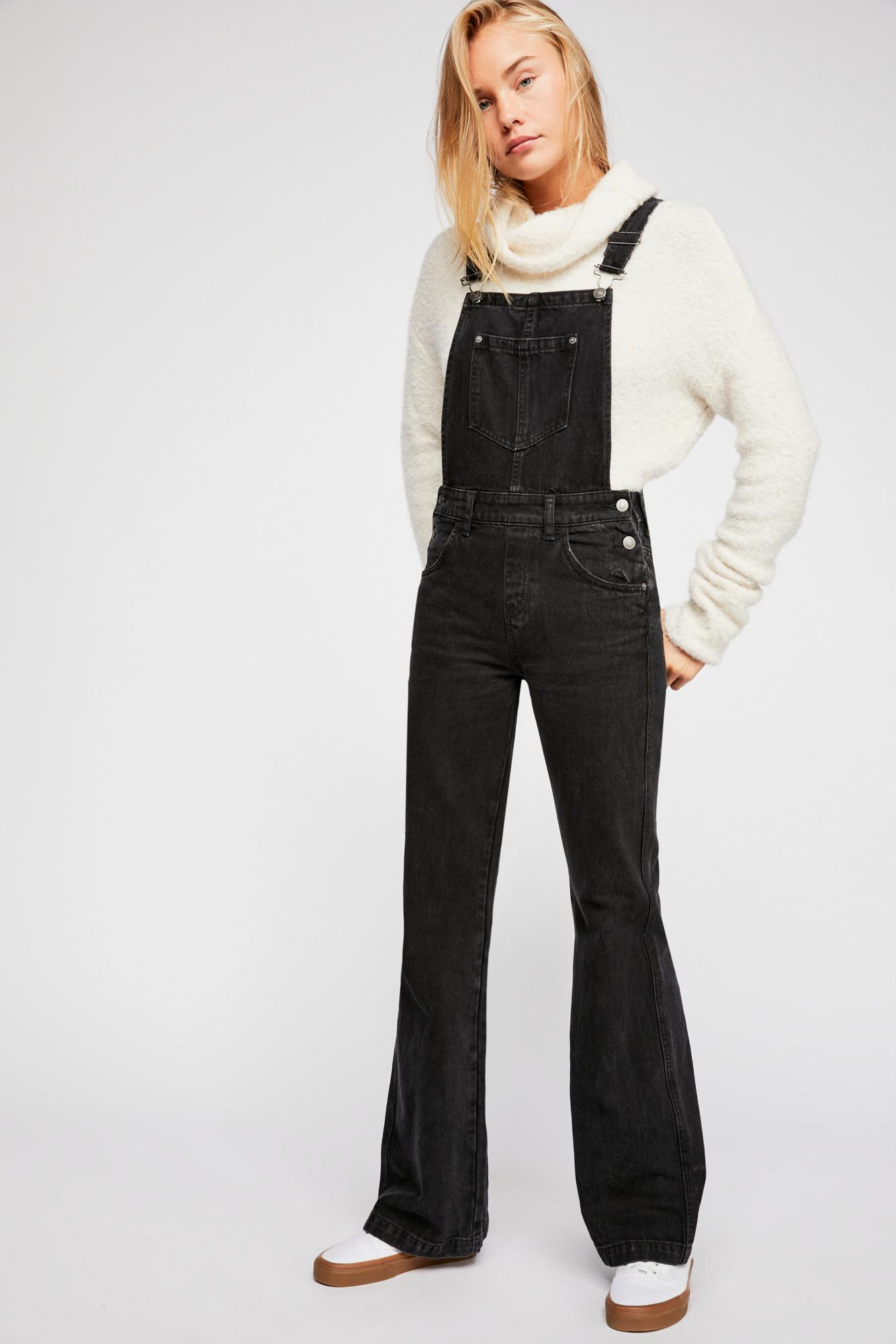 bc5f5d47ee Lyst - Free People Daisey Dungaree By We The Free in Black