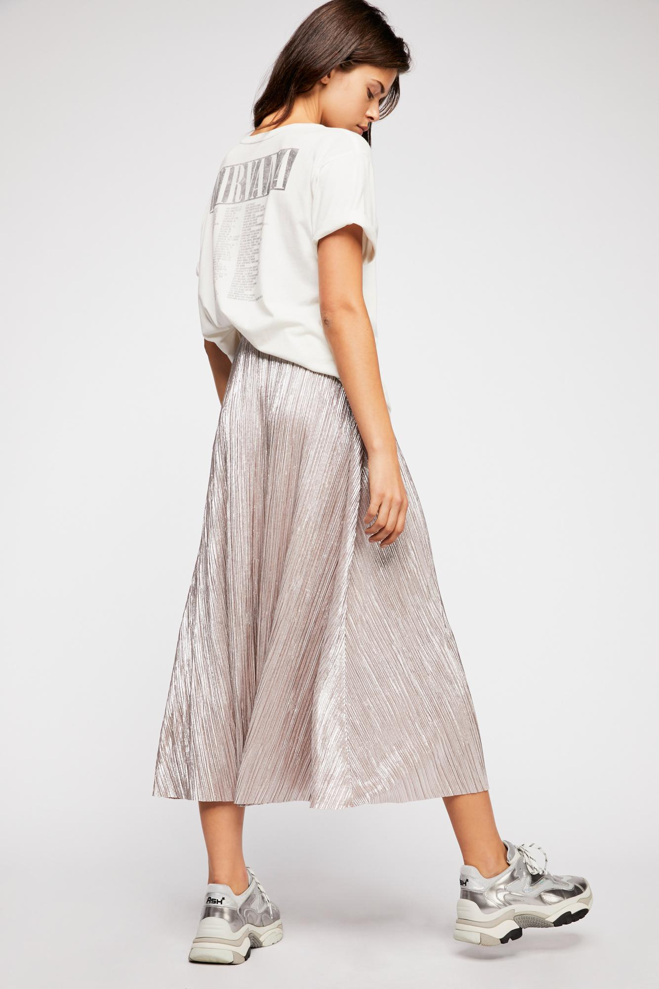 28e6d0186145e Lyst - Free People High Holiday Maxi Skirt in Pink