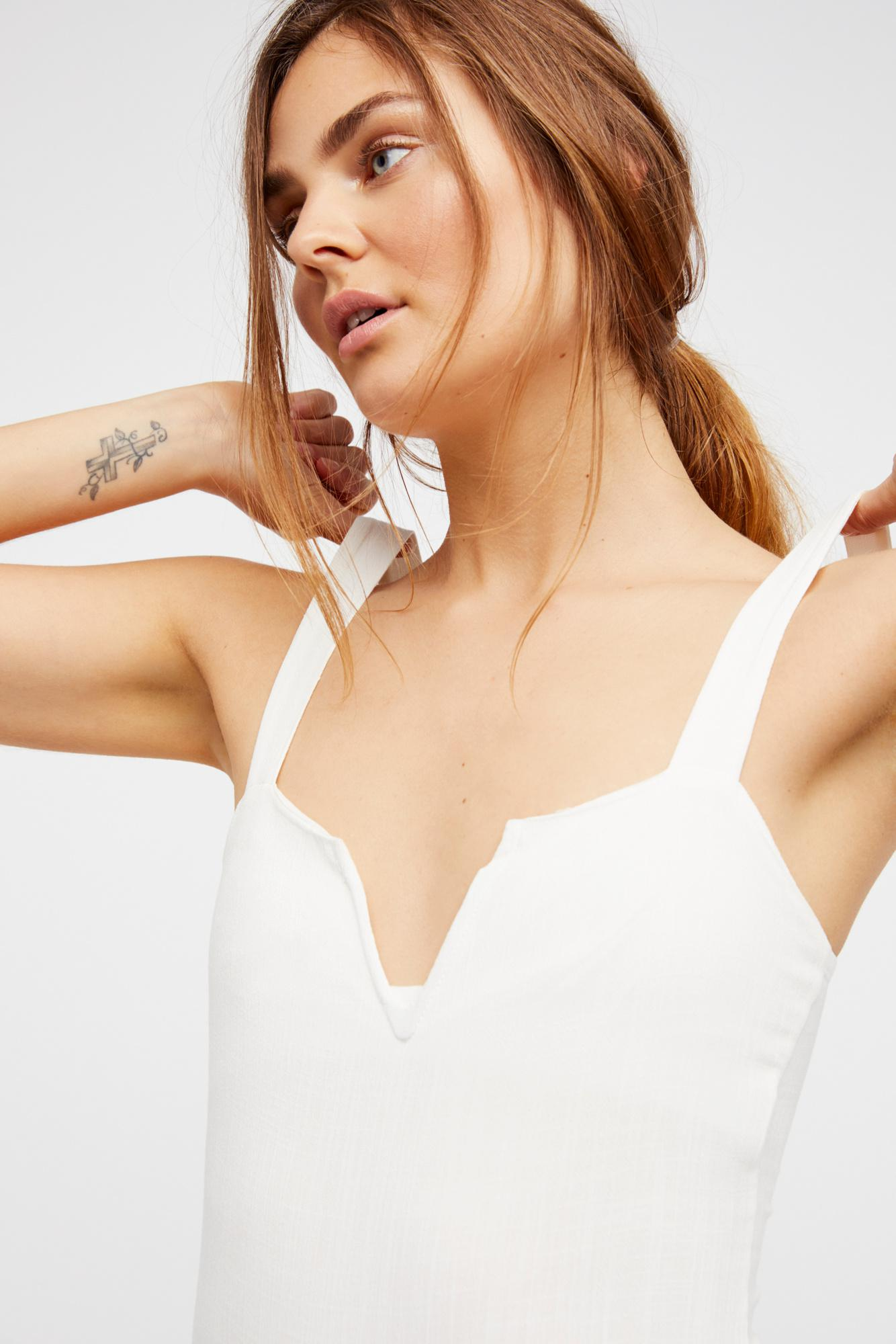 95d95e9d13 Lyst - Free People Pippa V-wire Bodysuit By Intimately in White