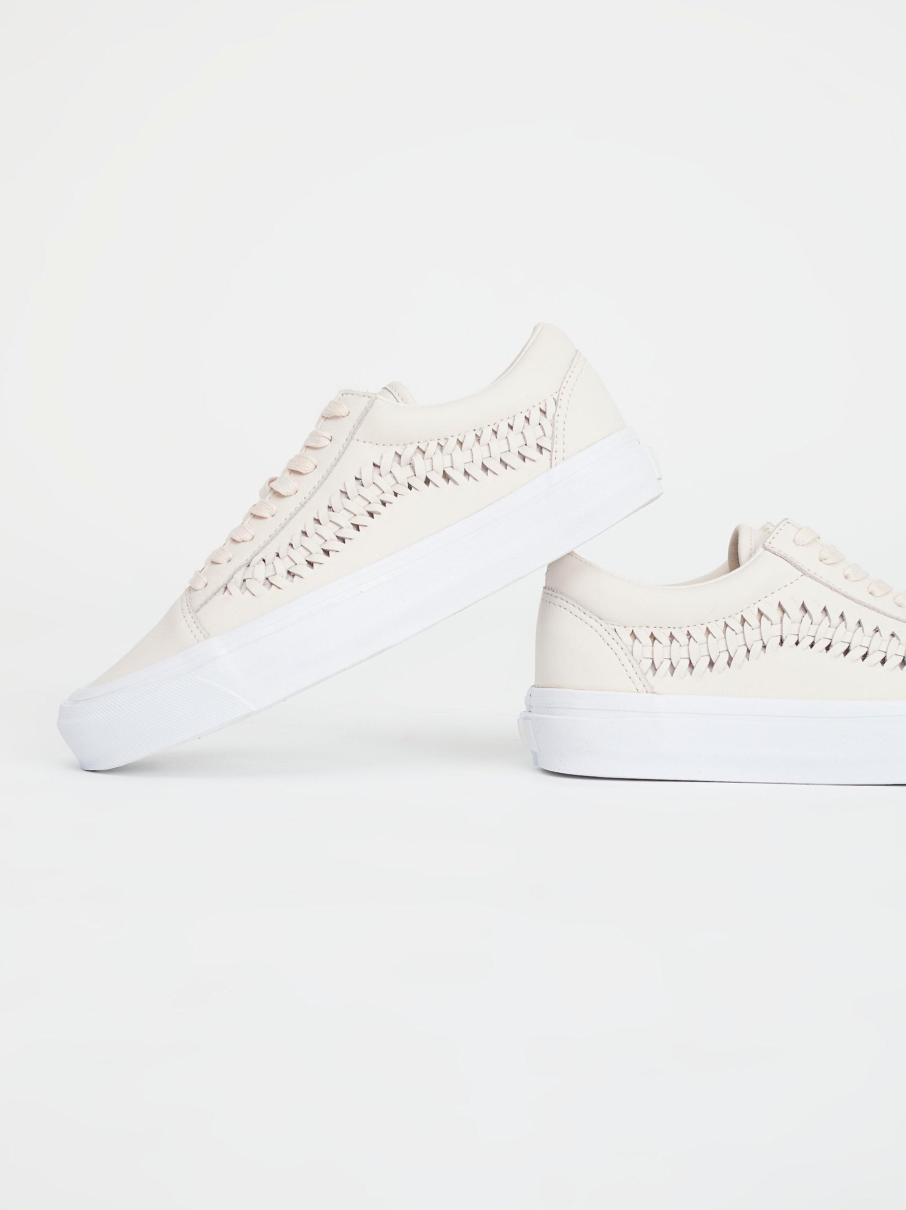 Free People Leather Old Skool Weave Dx Sneaker in Natural