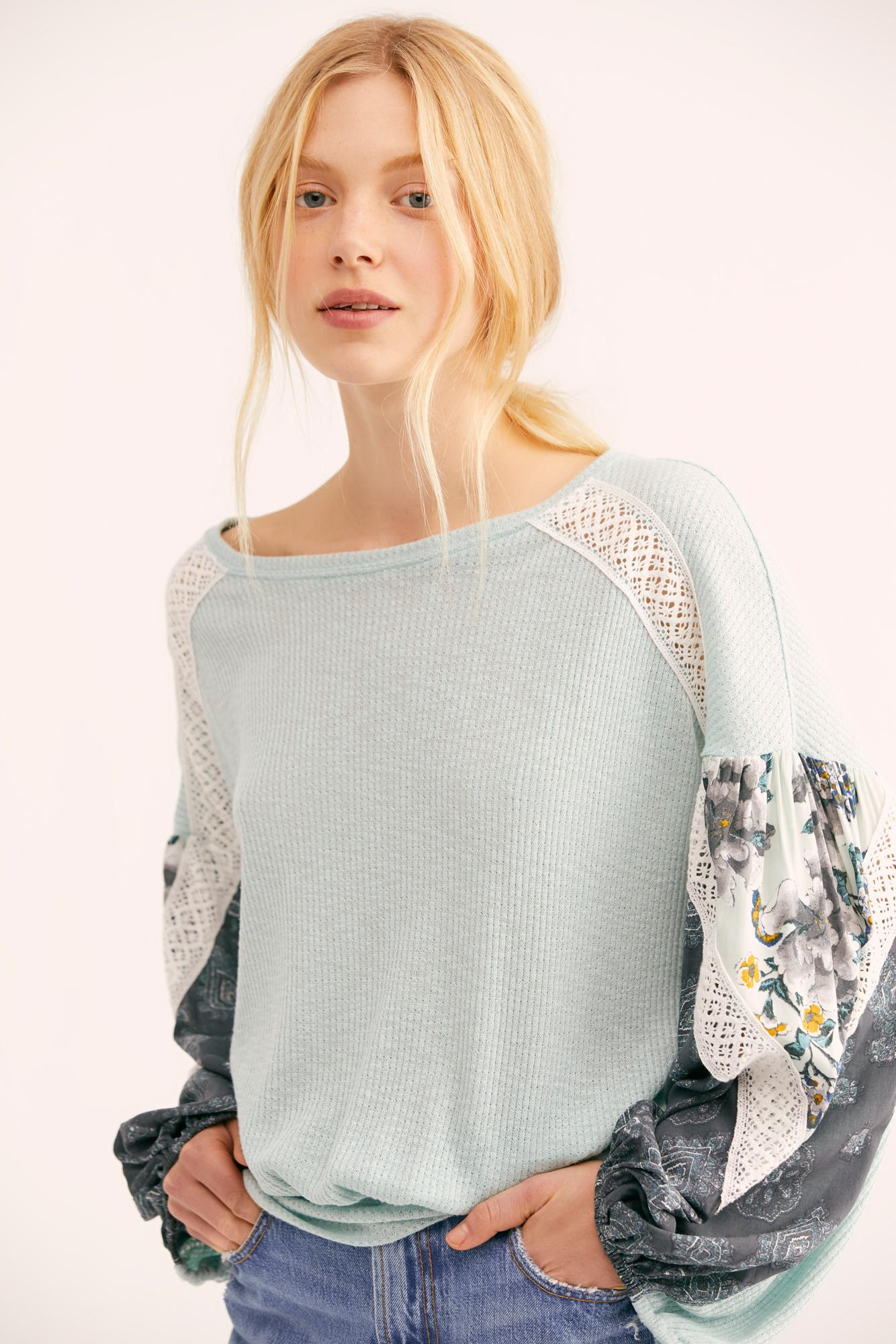 Free People Synthetic Casual Clash Top
