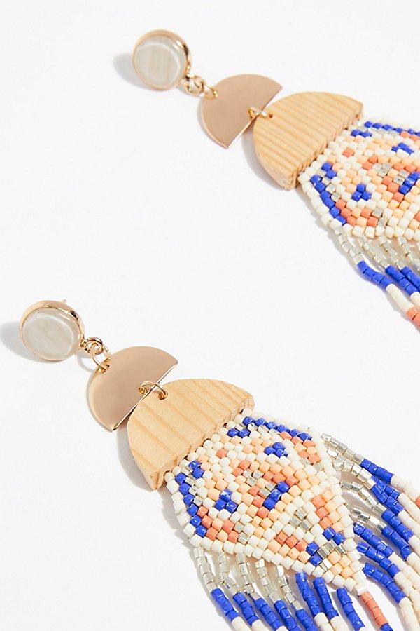 Free People Maui Wowi Earring in Ivory (White)