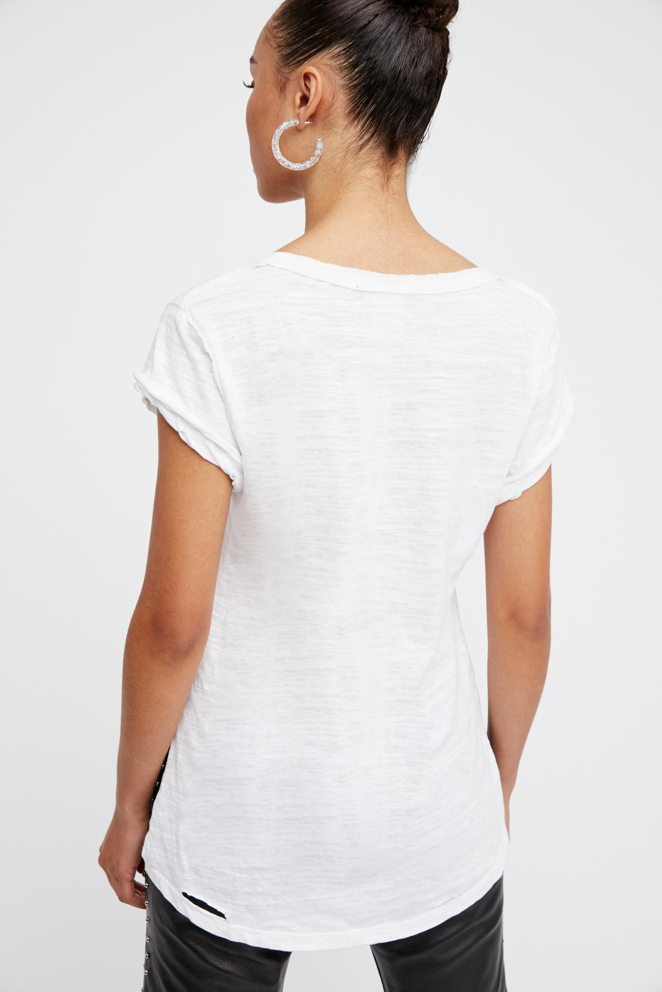 We The Free By Free PeopleClare Cap Sleeve T-ShirtWhite