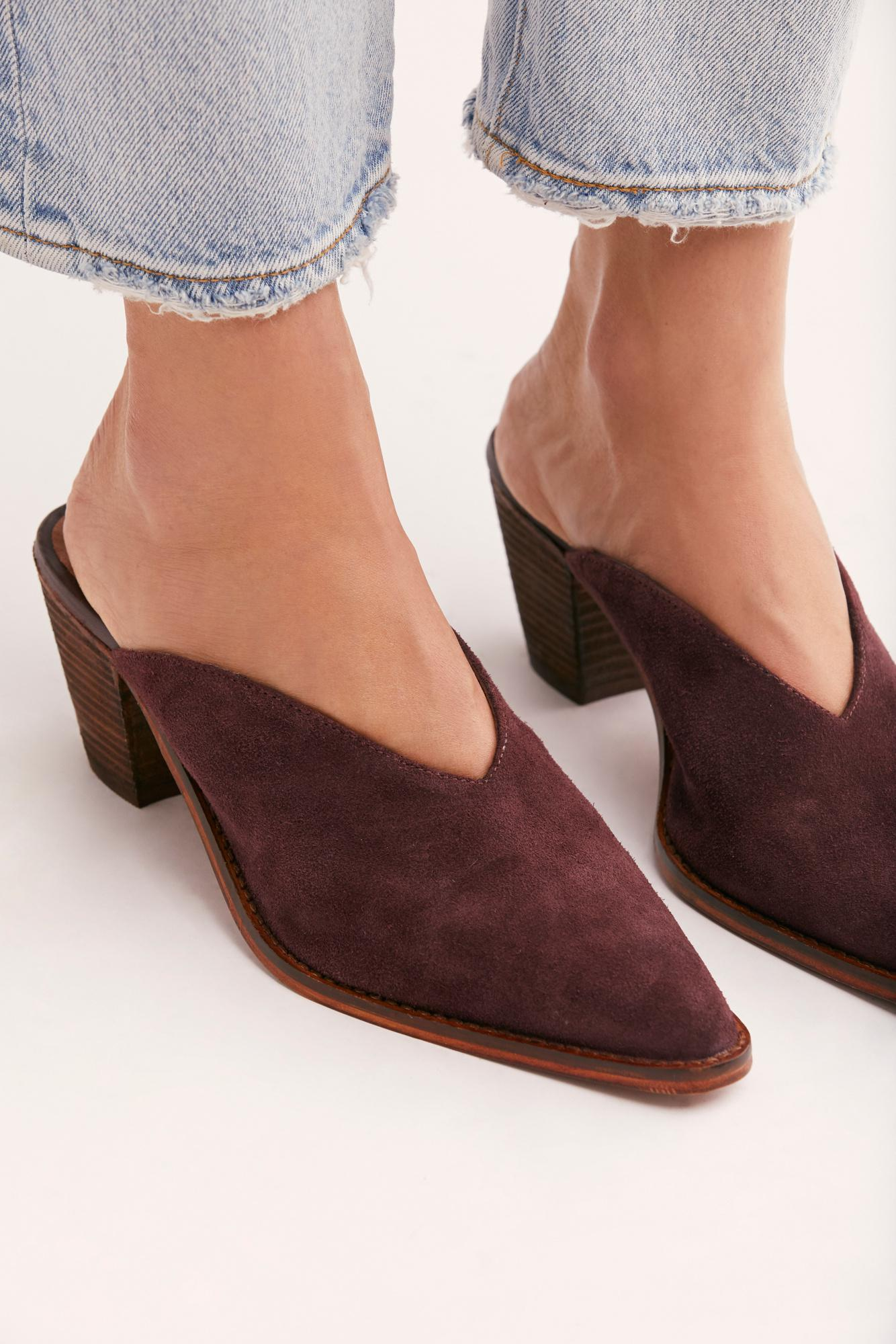 Free People Suede Anya Mule By Fp Collection Lyst