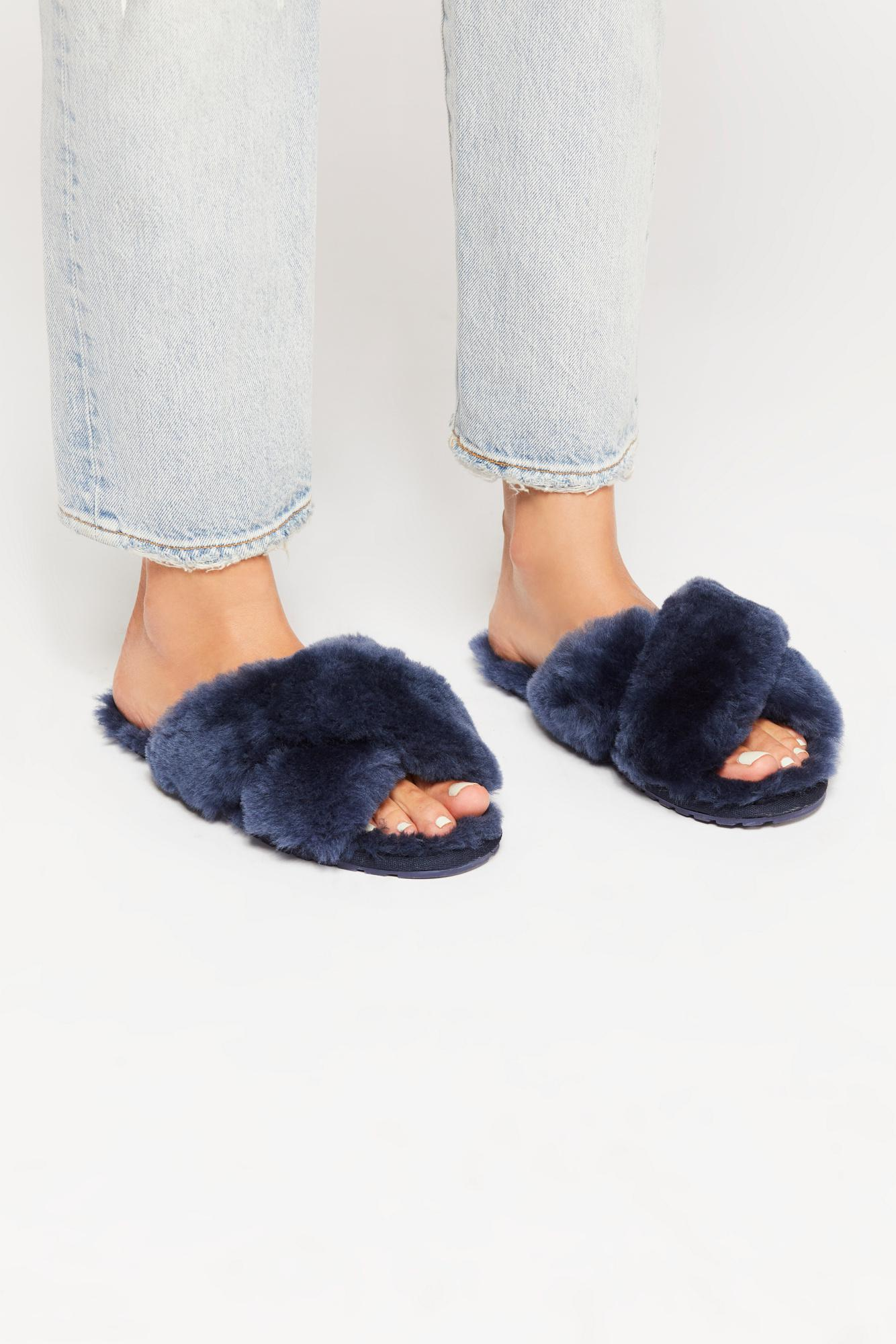 4c1dc7dcbecb Lyst - Free People Mayberry Slipper By Emu Australia in Blue