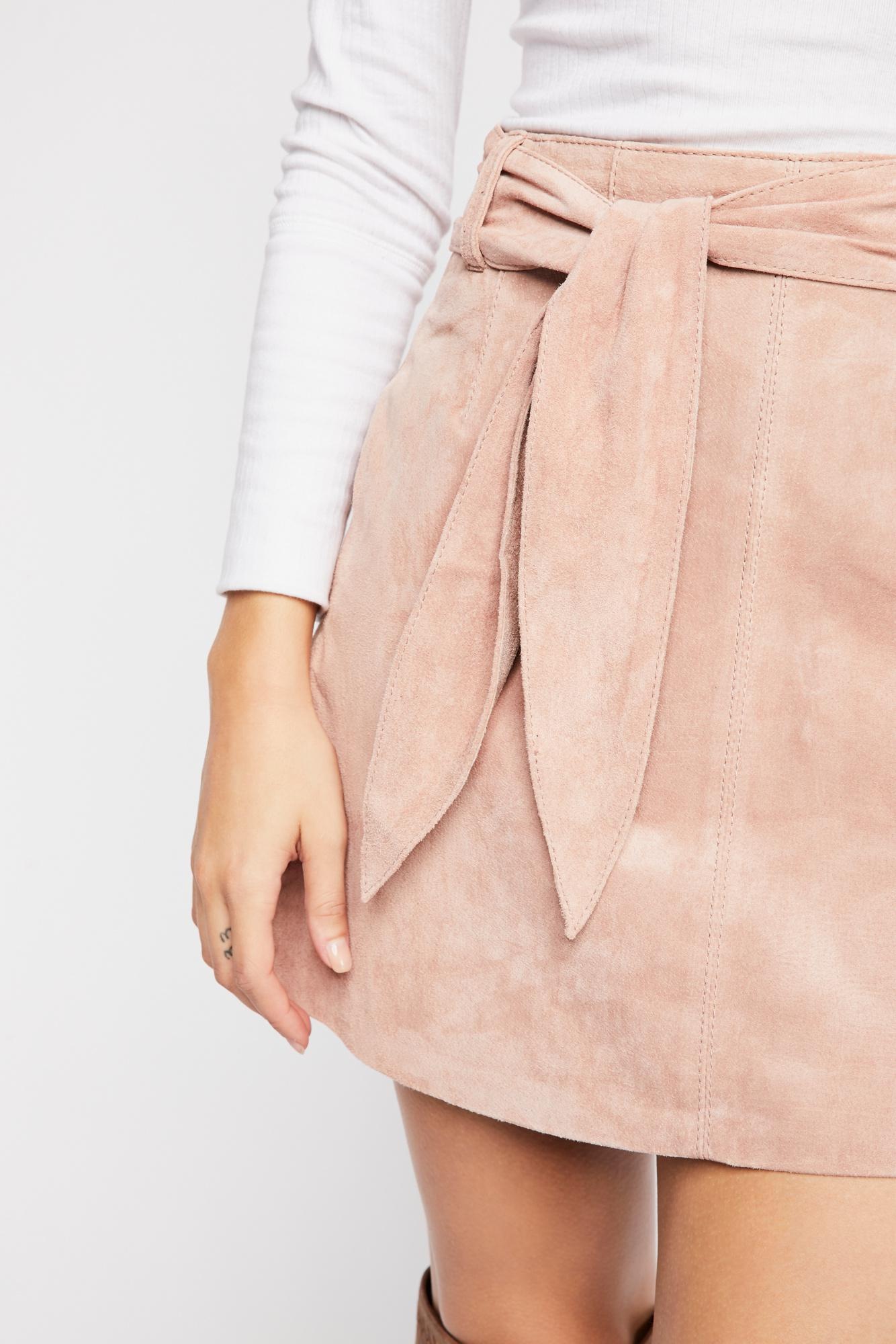 16c7e749a Free People Candy Crushing Mini Skirt By Blank Nyc in Pink - Lyst
