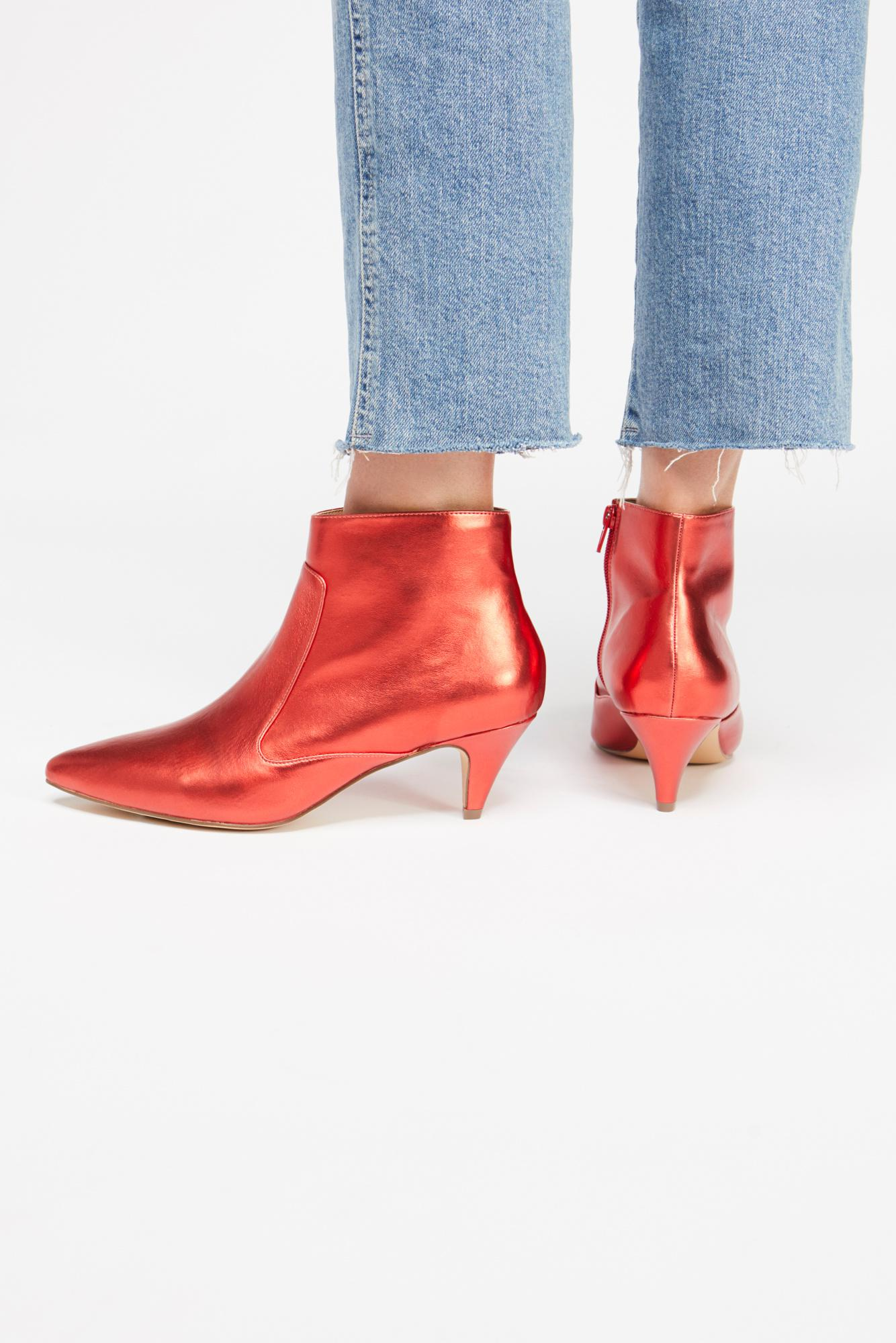 526310bd9 Free People Kizzy Kitten Heel Boot By Jane And The Shoe in Red - Lyst