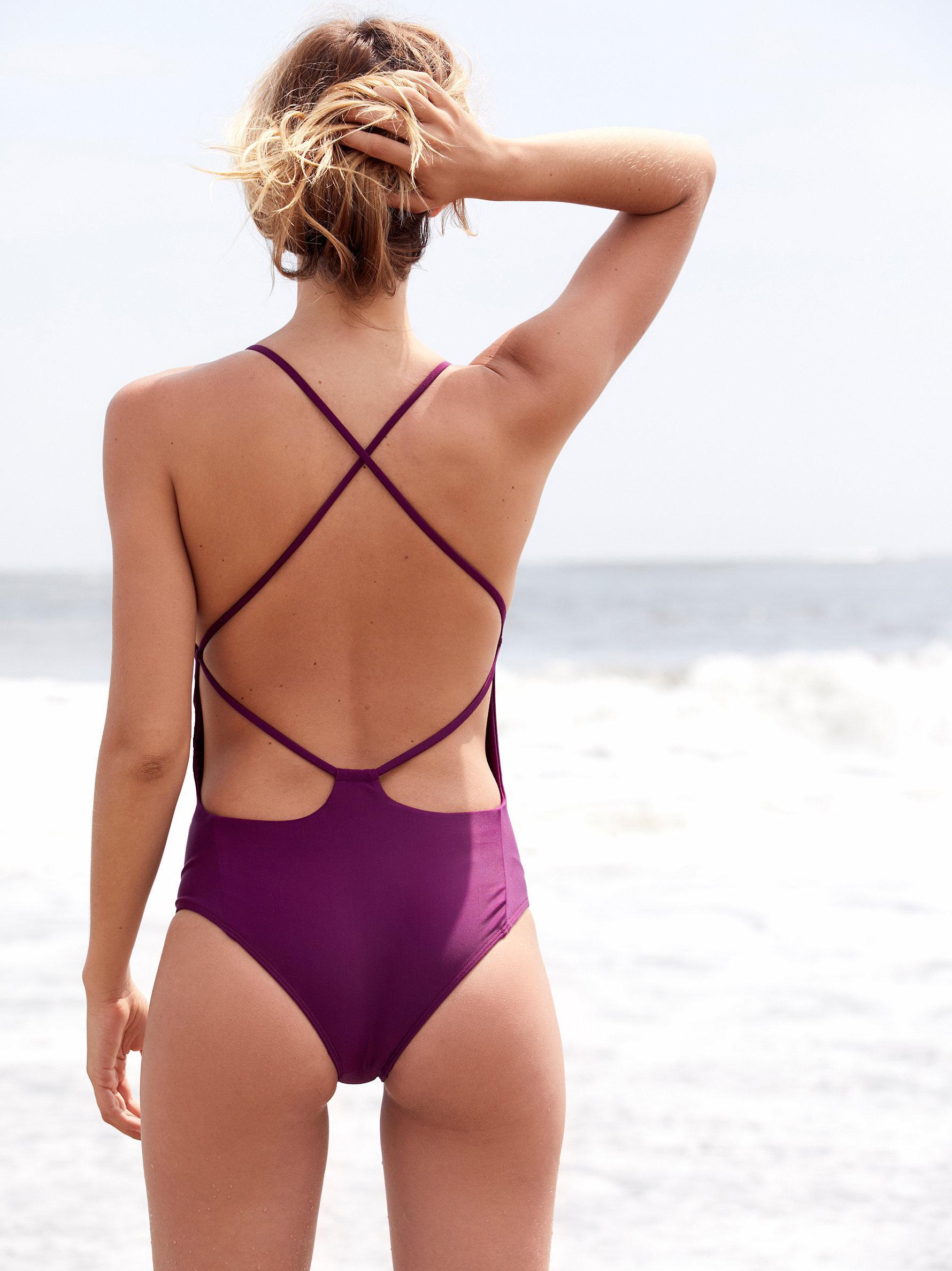 b6b1c0f2a0df Free People Farrah One Piece Swimsuit in Purple - Lyst