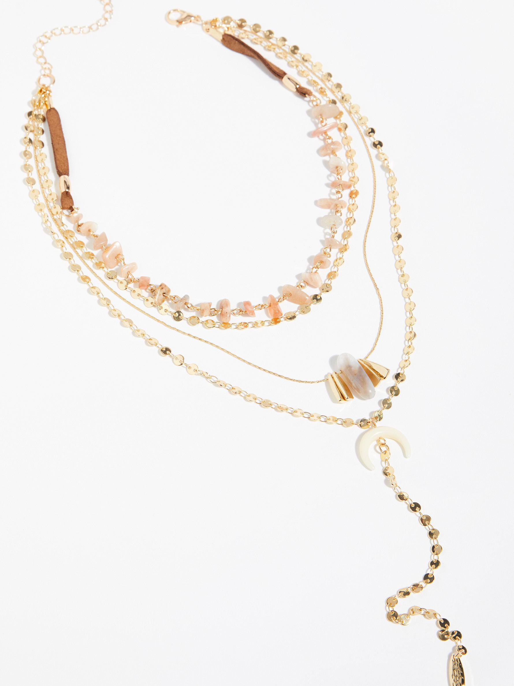 Rose Shield Layered Necklace By Free People