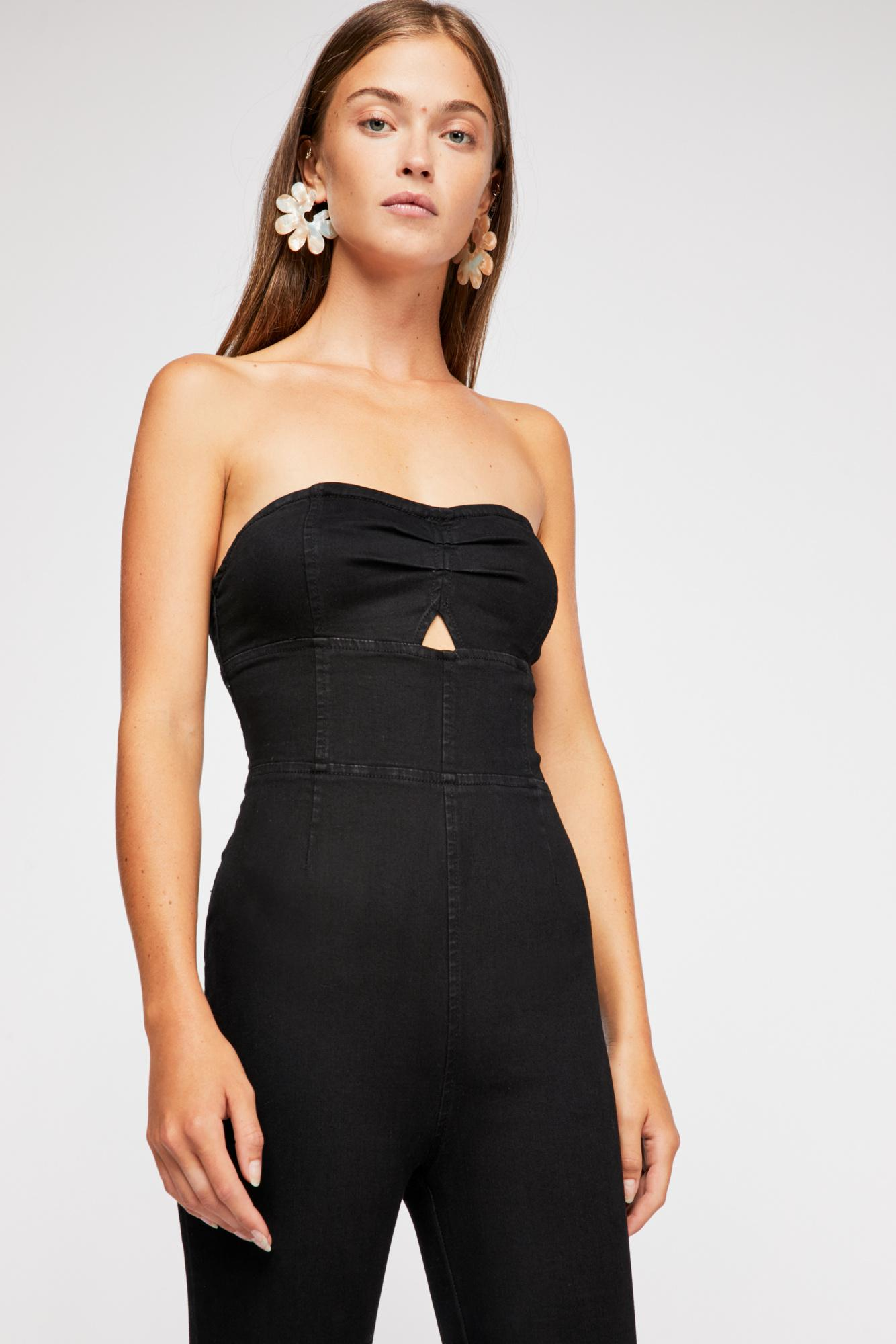 74fa1999e06 Lyst - Free People Lydia Jumpsuit in Black
