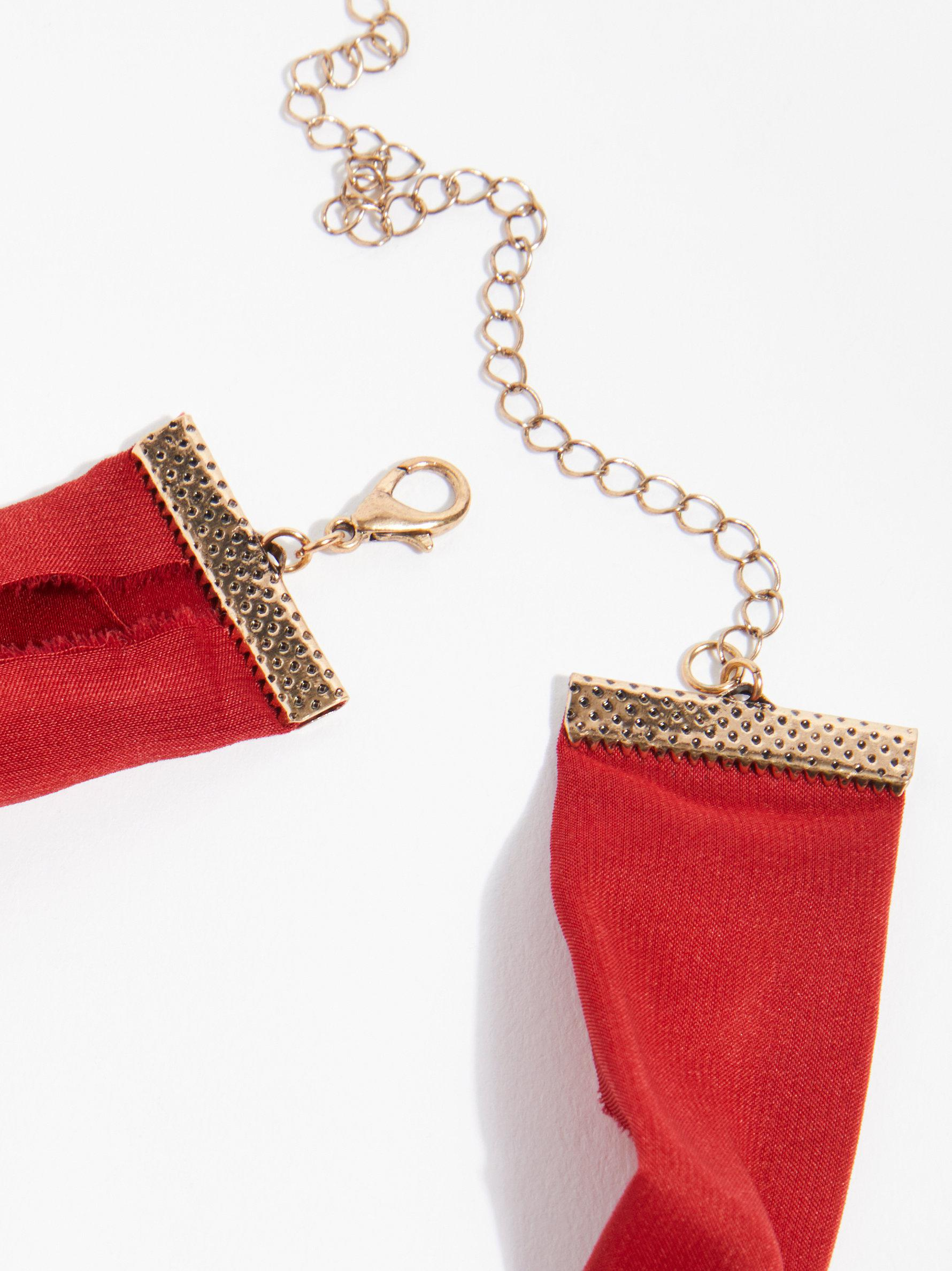 Free People Synthetic Sabine Scarf Necklace in Red