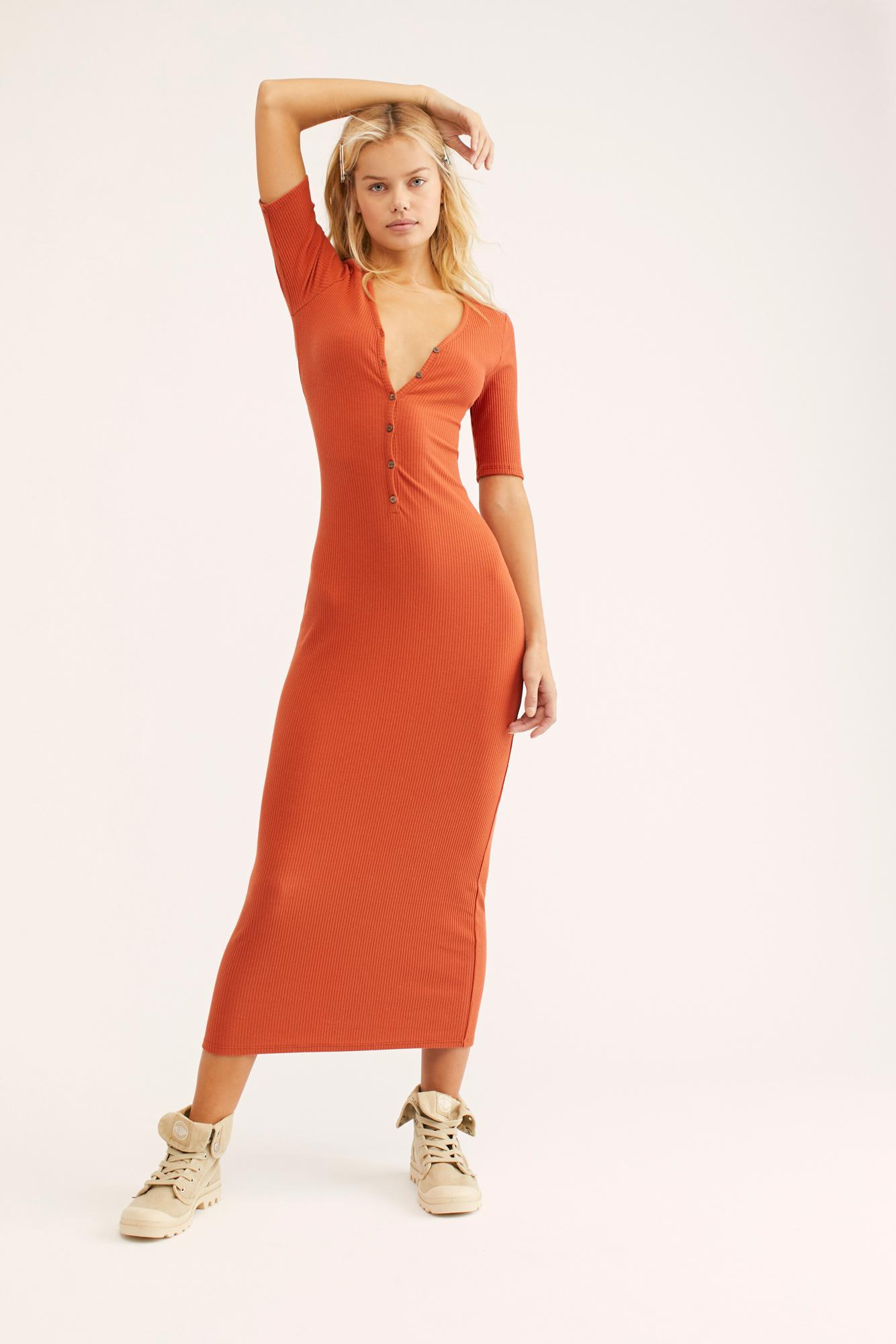 Free People Synthetic Temecula Maxi Dress in Light Pink