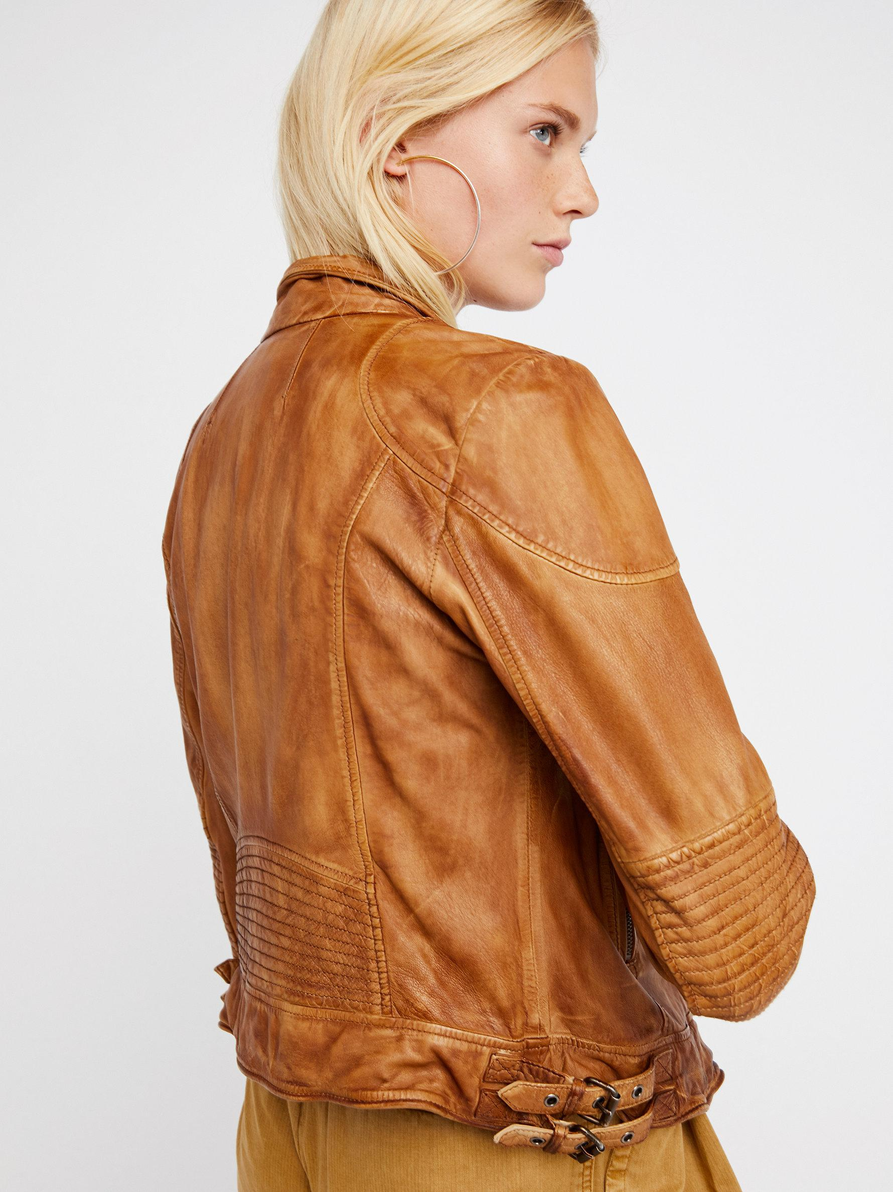 and this buttery fitted in a pin washed leather jacket rug soft rugged