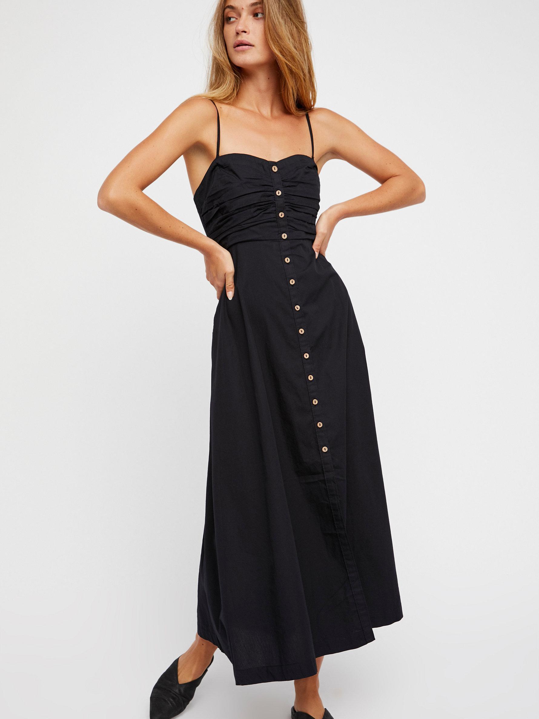 30a6f9a771 Free People The Isha Tube Midi Dress in Black - Lyst