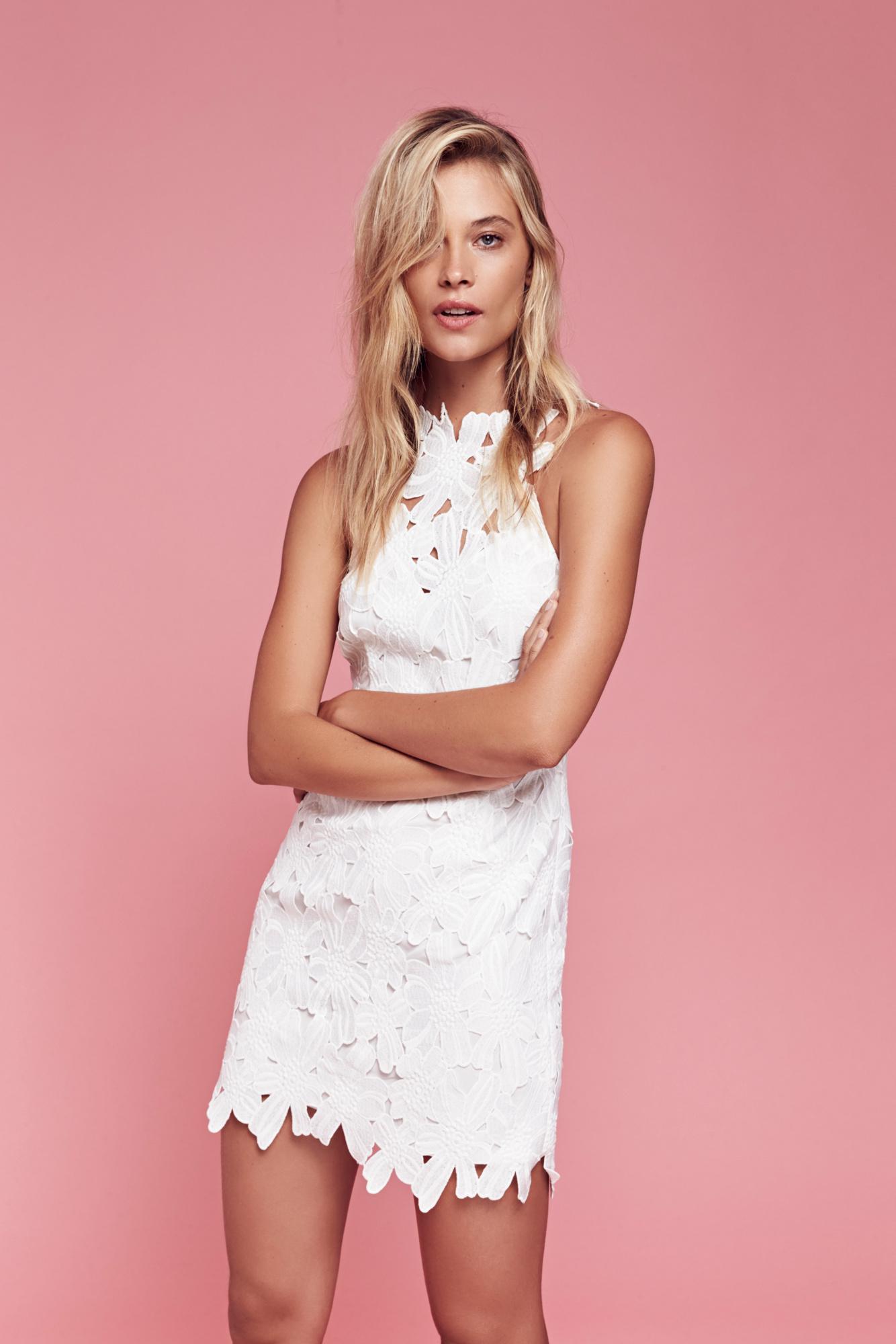 4f0acabb291 Free People Jessa Lace Mini Dress in White - Save 9% - Lyst