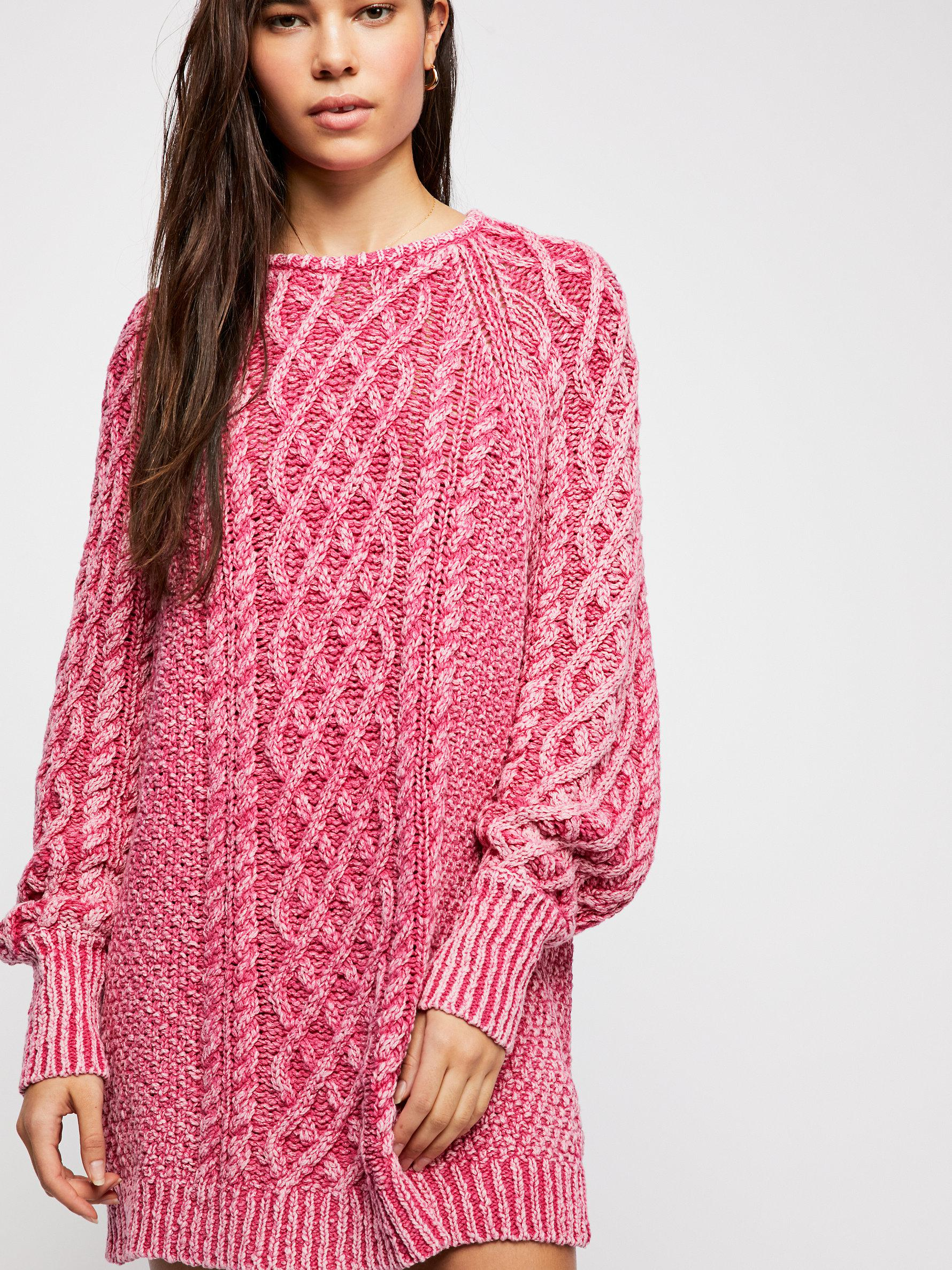 8a7bc21ba5891 Lyst - Free People On A Boat Sweater Dress in Pink
