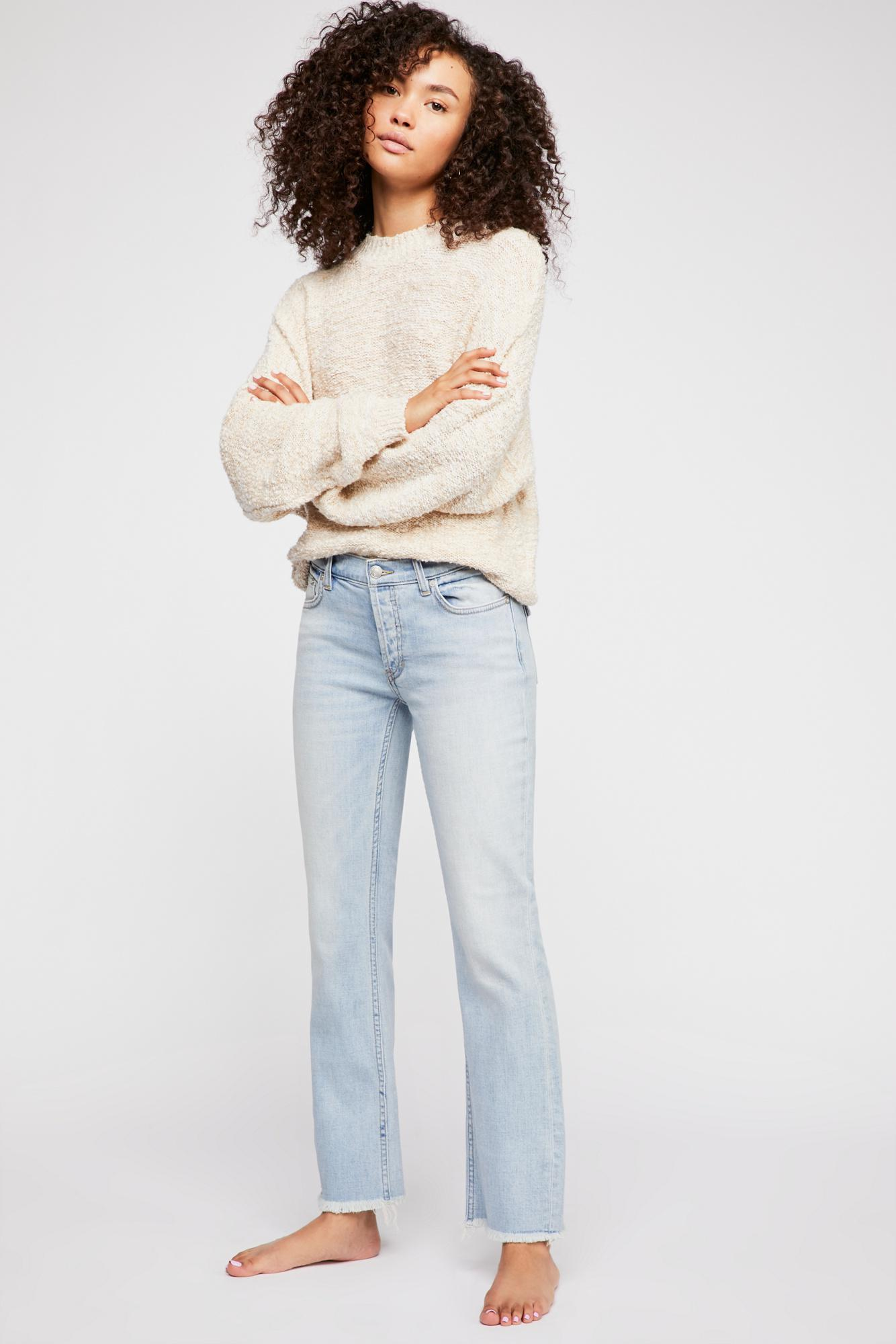 Free People Denim Austen Straight-leg Jeans in Blue