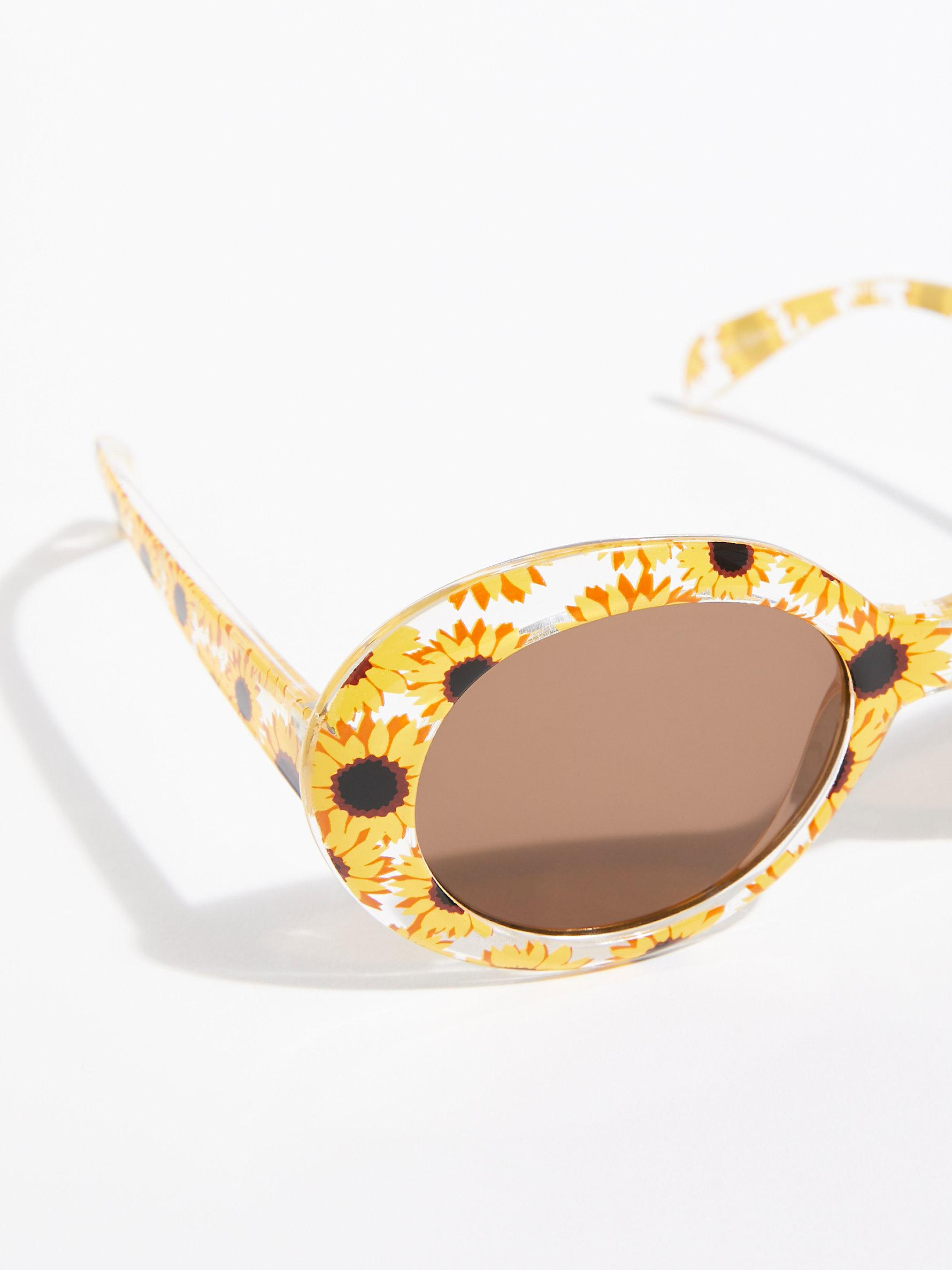 Free People Pool Party Printed Sunglasses