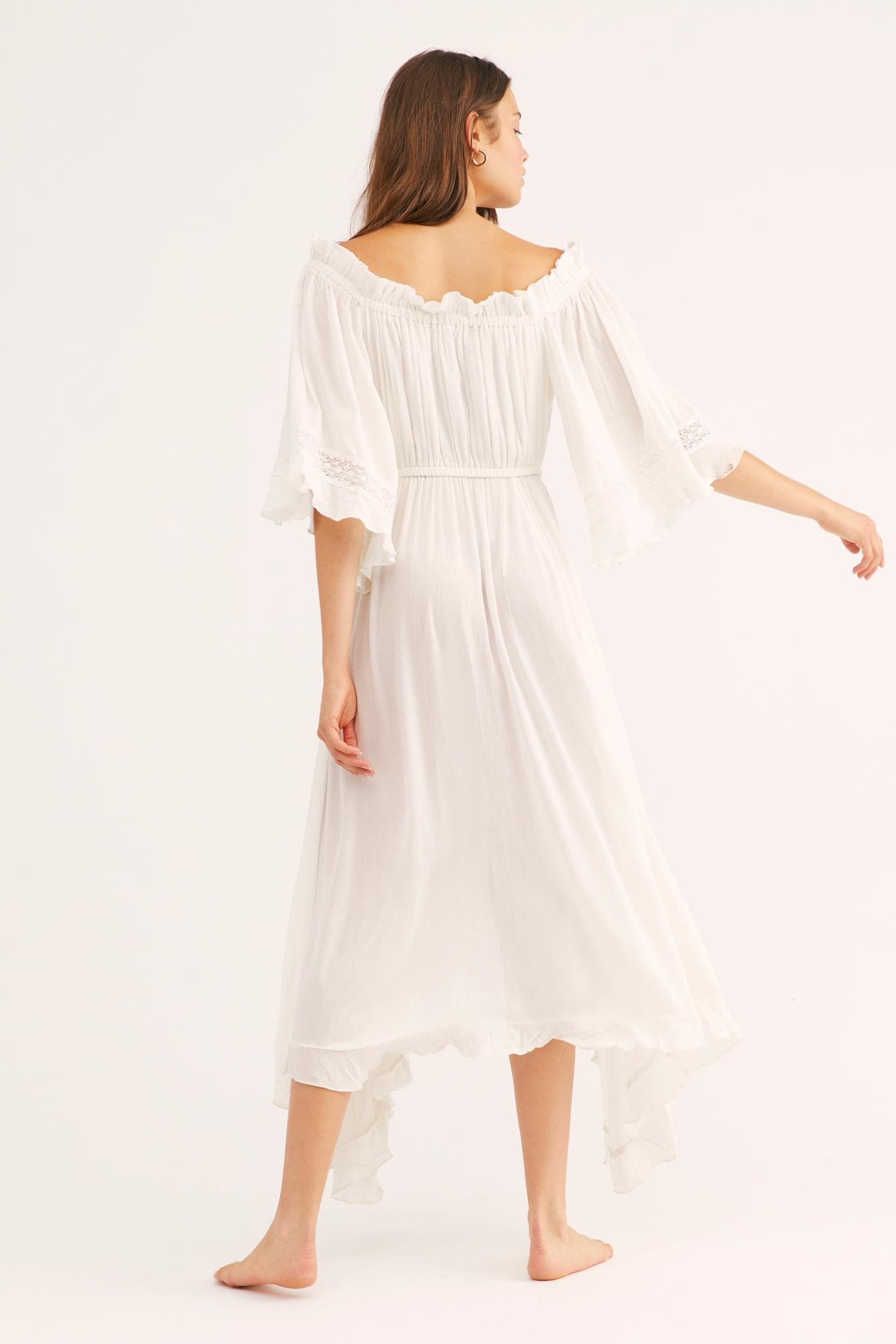 Free People Synthetic Saltwater Maxi Dress By Fp Beach in