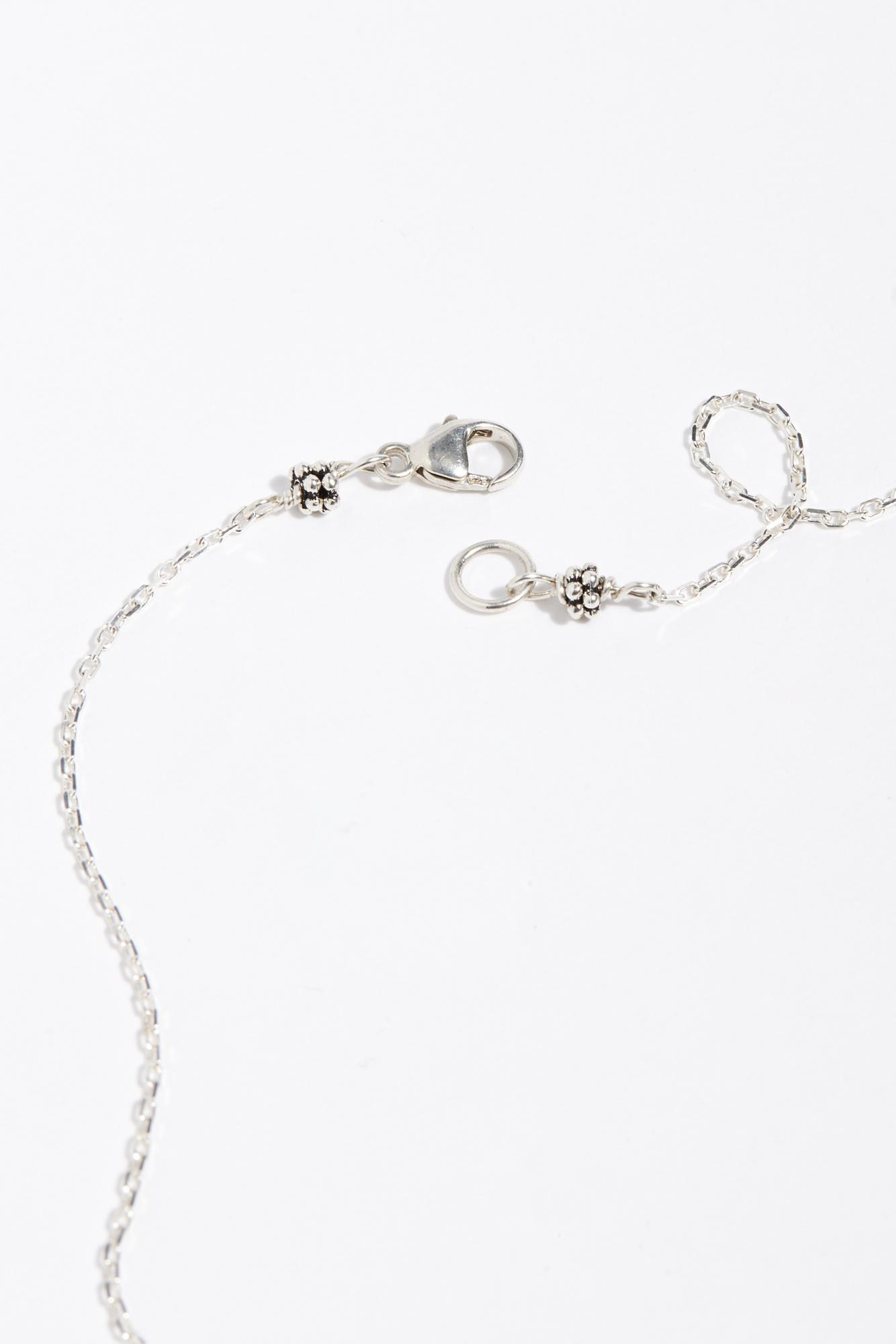 Free People Compass Artifact Charm Necklace By Robin Haley Jewellery in Sterling Silver (Metallic)