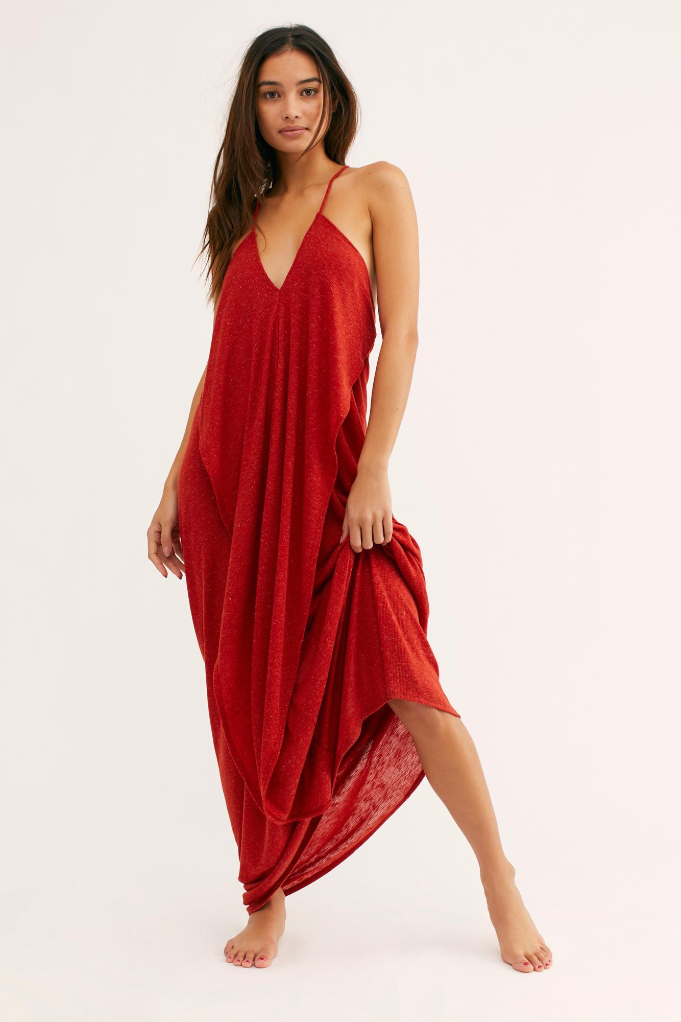 NWT $128 Free People Beach Primrose Blue Maxi Dress