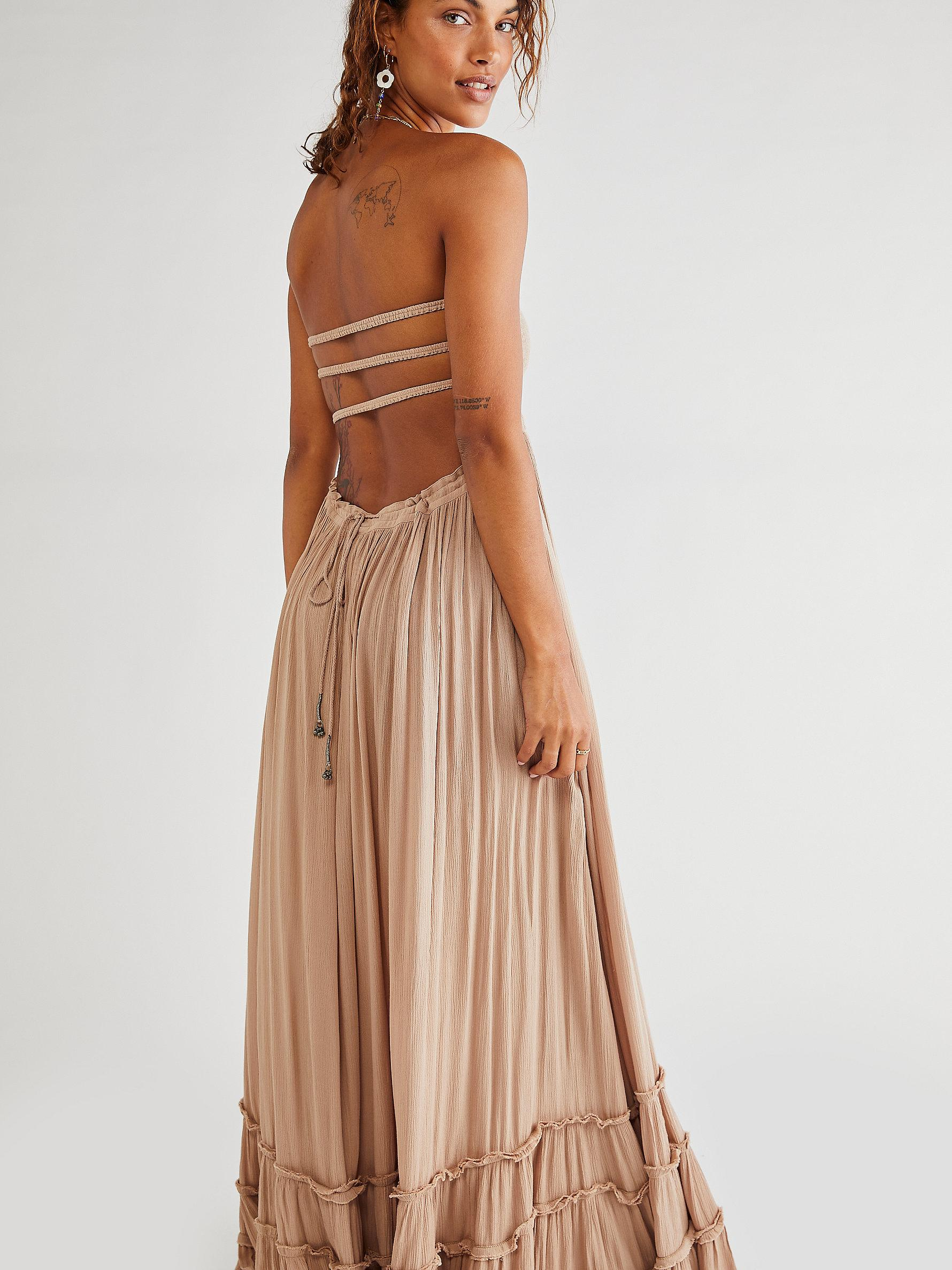 Free People Extratropical Jersey Maxi Dress in Taupe Brown   Lyst