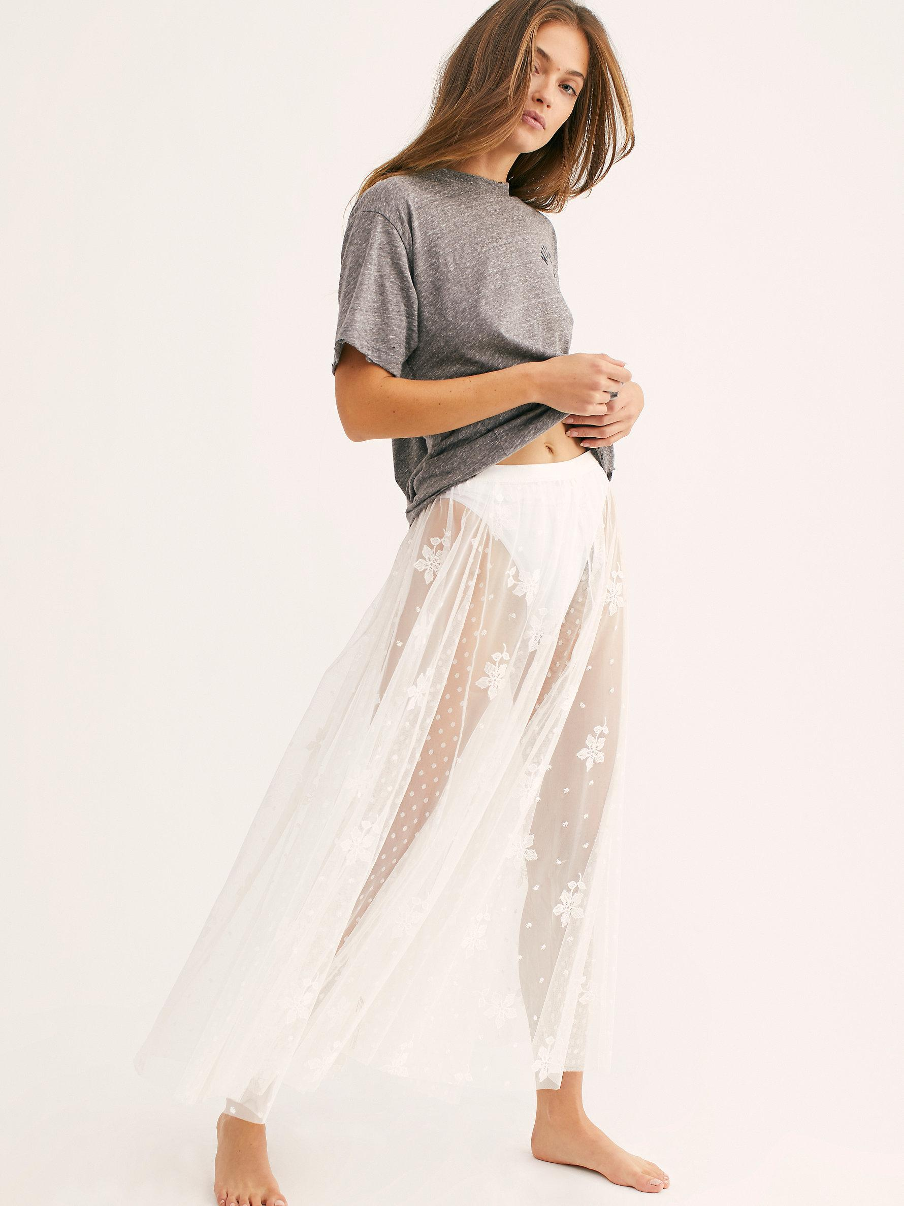 be90f79aec Free People Spring Fever Embroidered Half Slip in White - Lyst