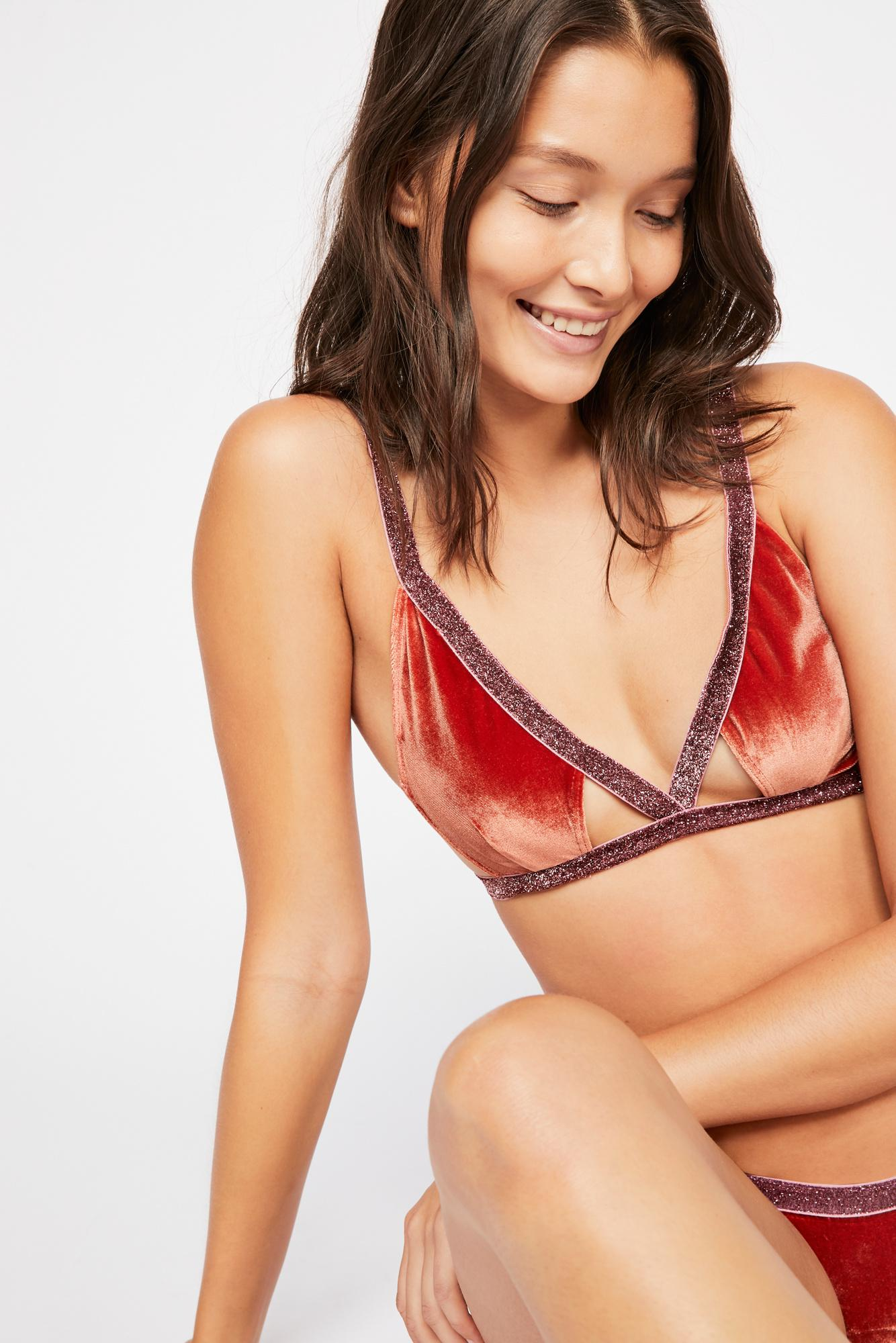 f53123e64ee Free People Sabina Triangle Bra By For Love   Lemons in Brown - Lyst