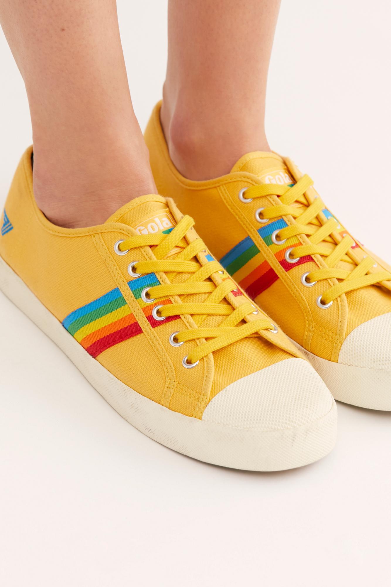 Canvas Gola Coaster Rainbow Sneakers - Lyst