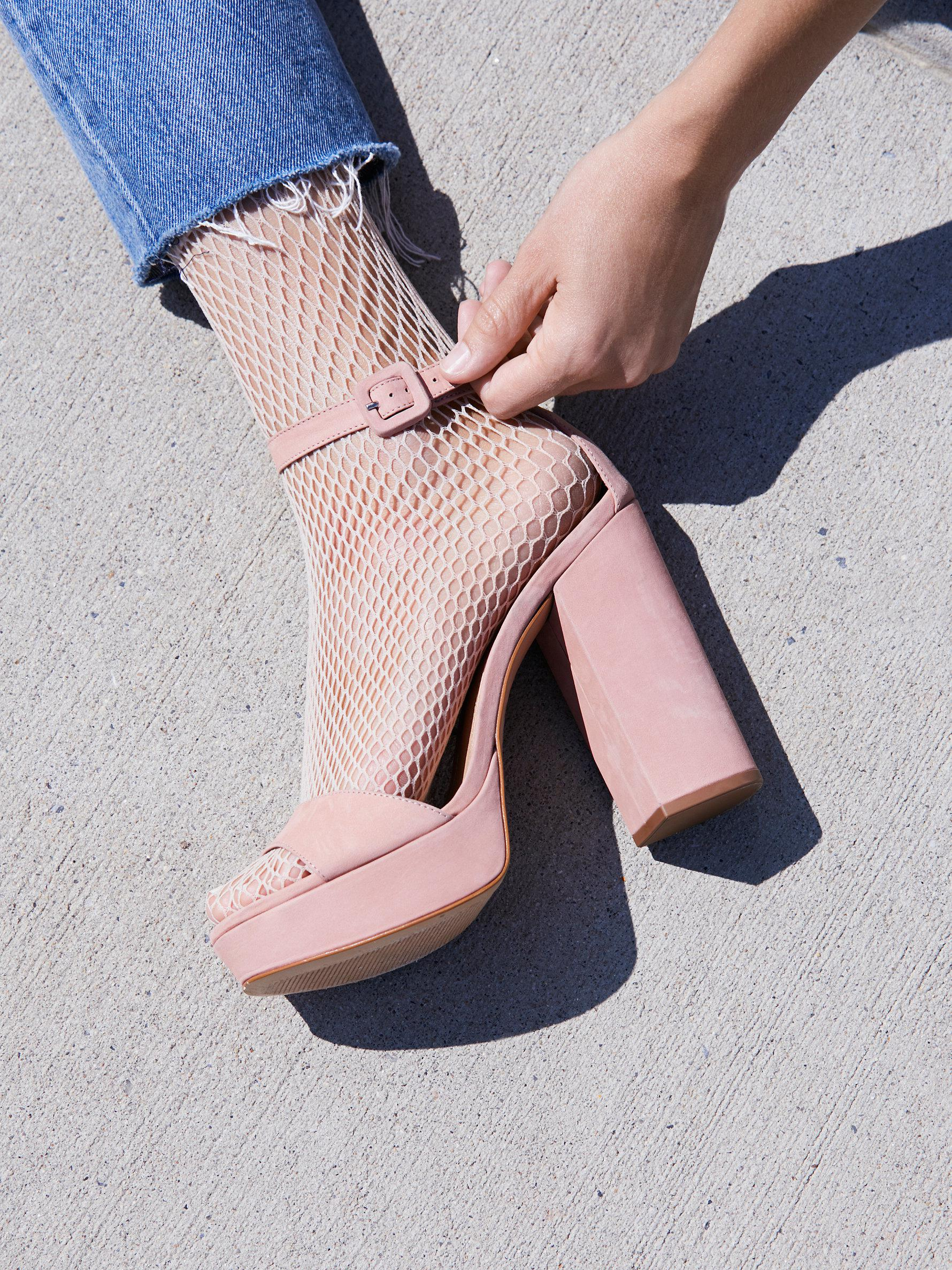 ce8d233c1d45 Lyst - Free People Micheala Platform in Pink