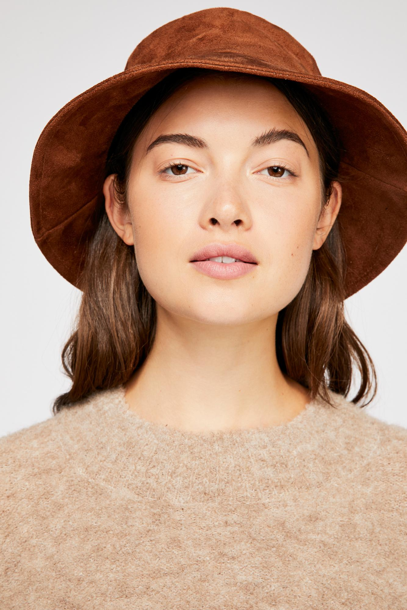 d345ac545e5 Lyst - Free People Haven Vegan Suede Bucket Hat in Brown