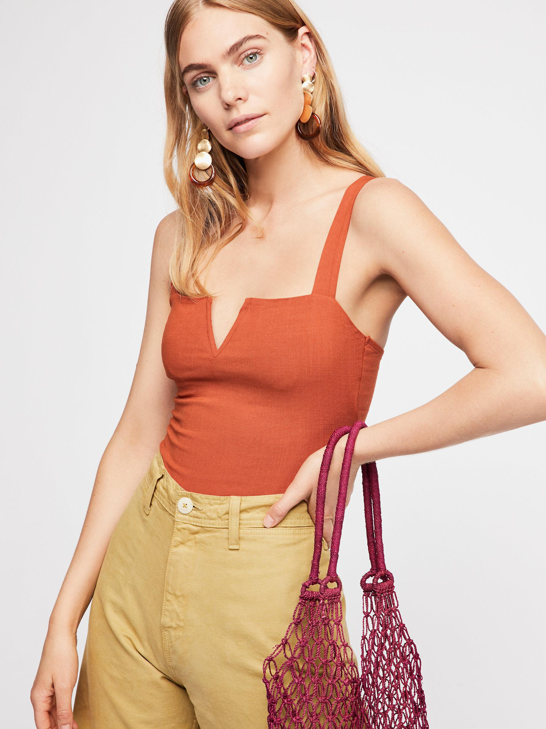 Free People Womens Pippa V-Wire Bodysuit