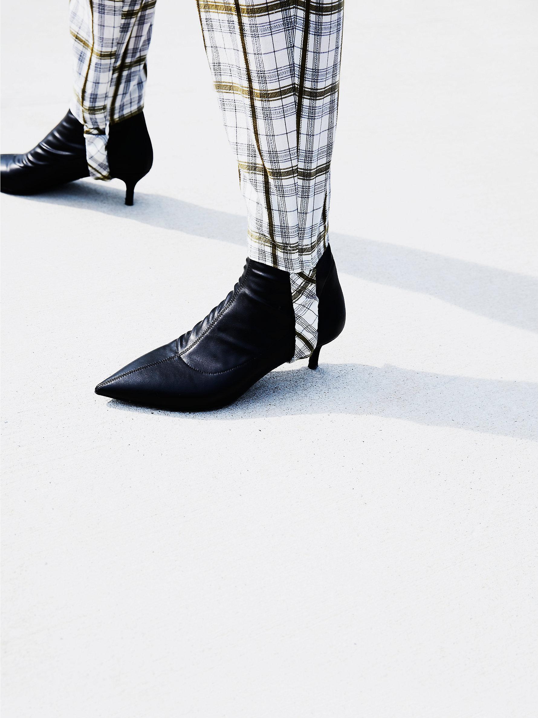3ad315743cc Free People Black Marilyn Kitten Heel Boot