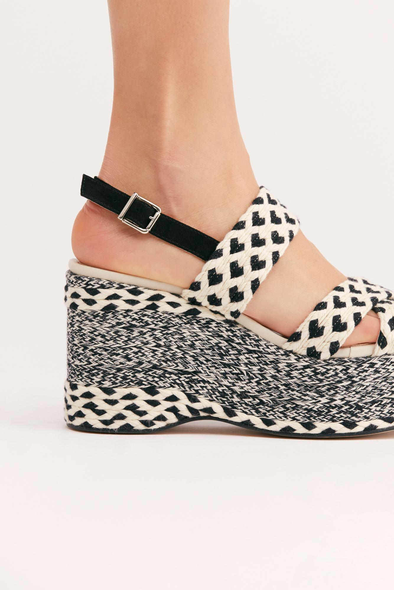 187d528dcff2 Free People - Black Dolce Platform Wedge By Fp Collection - Lyst. View  fullscreen