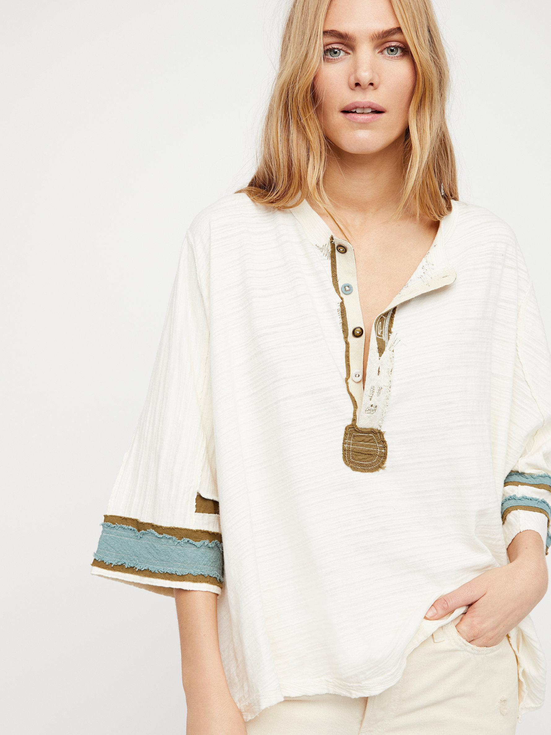 Great Deals Cheap Price Professional  Second Wind Henley Top - Ivory Free People Best Deals zwRA6Lx93B