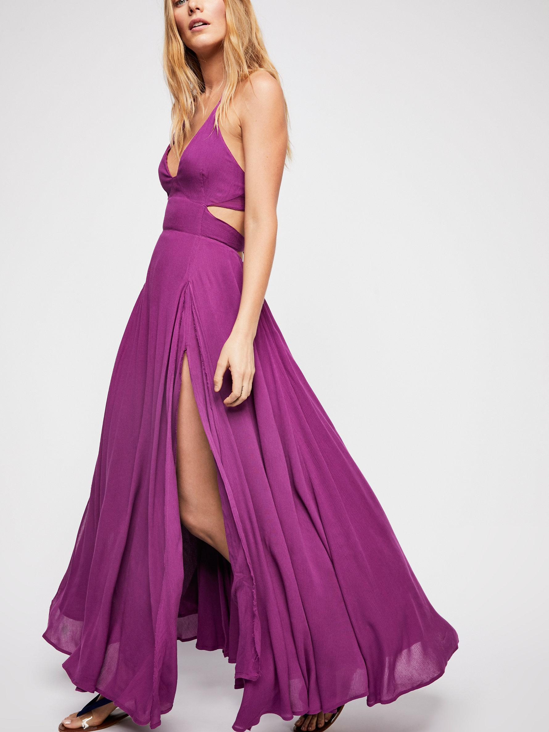 09e0f02447a Free People Lille Maxi Dress in Purple - Lyst