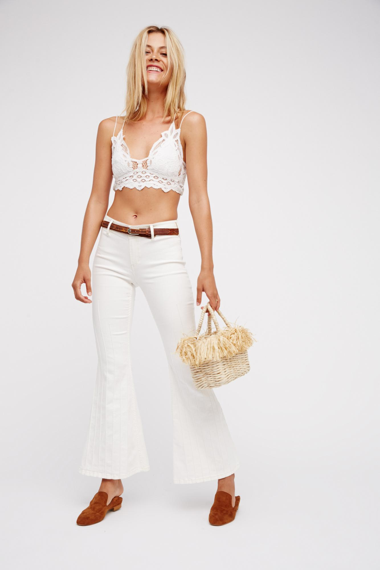 595061267a Free People - White Fp One Adella Bralette - Lyst. View fullscreen