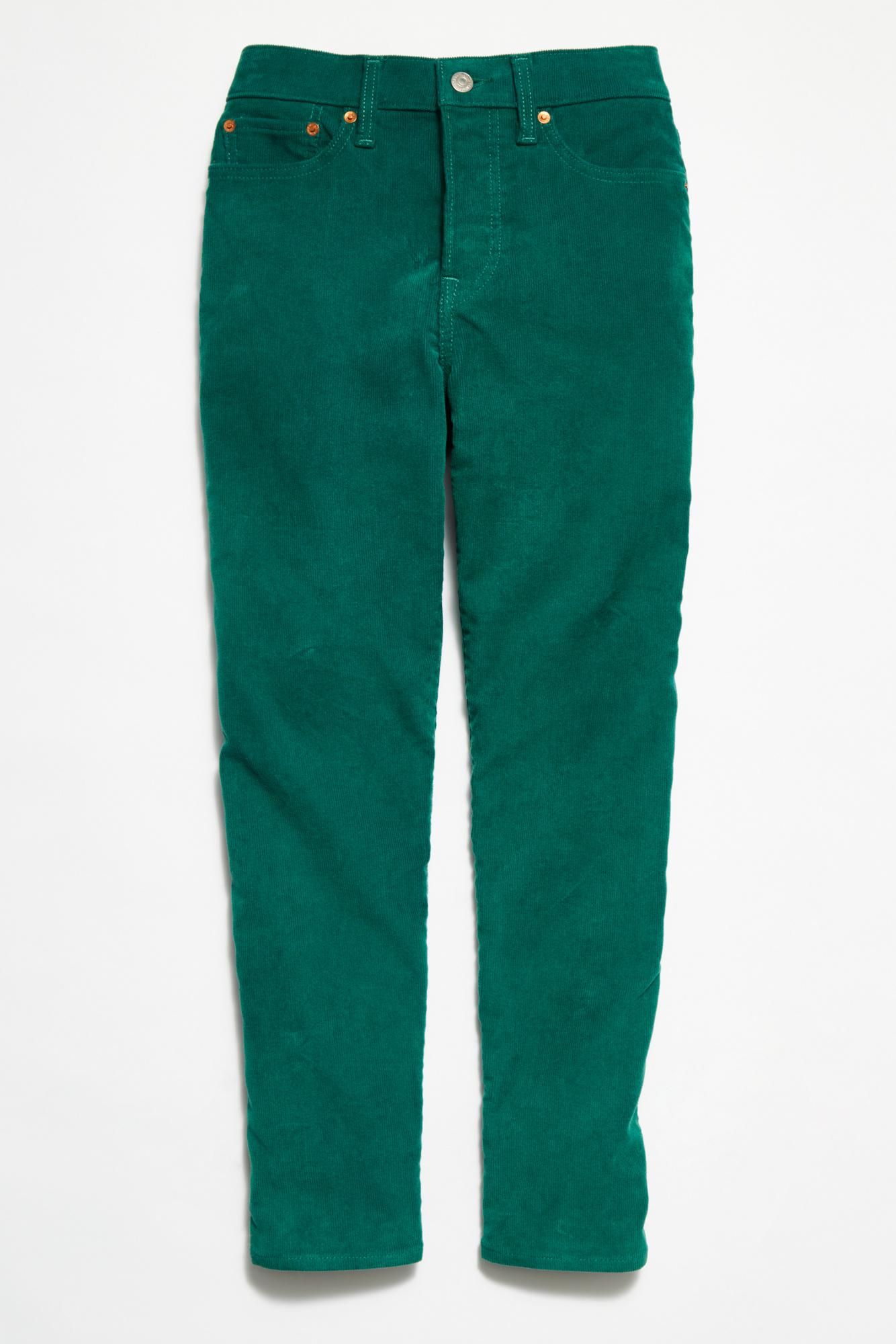 Lyst Free People Levi S Wedgie Straight Cord In Green
