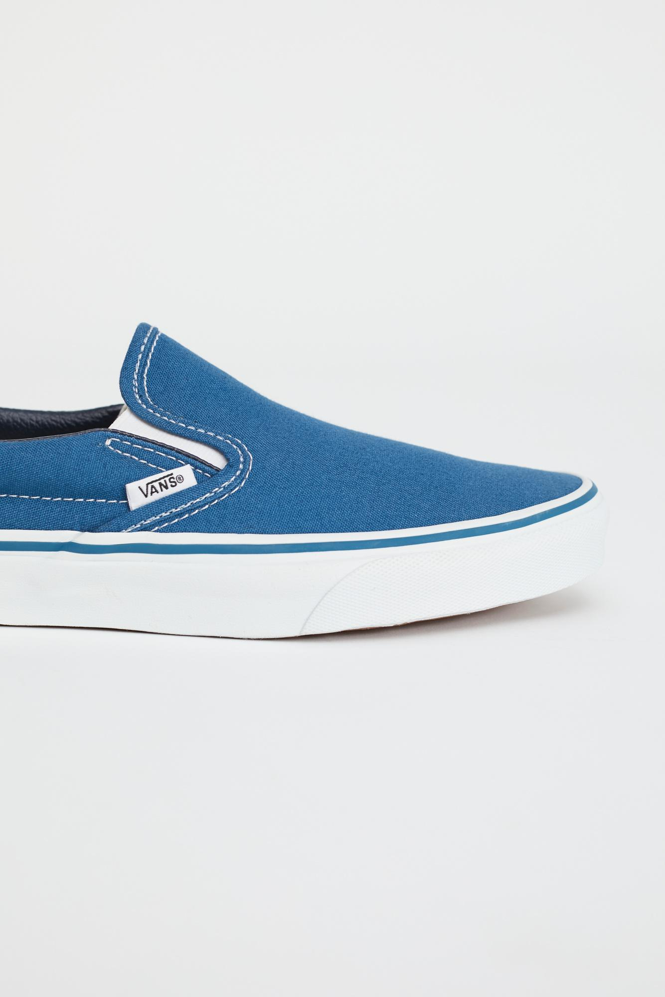 Free People Canvas Classic Slip On Trainer By Vans - Chemise in Navy (Blue)
