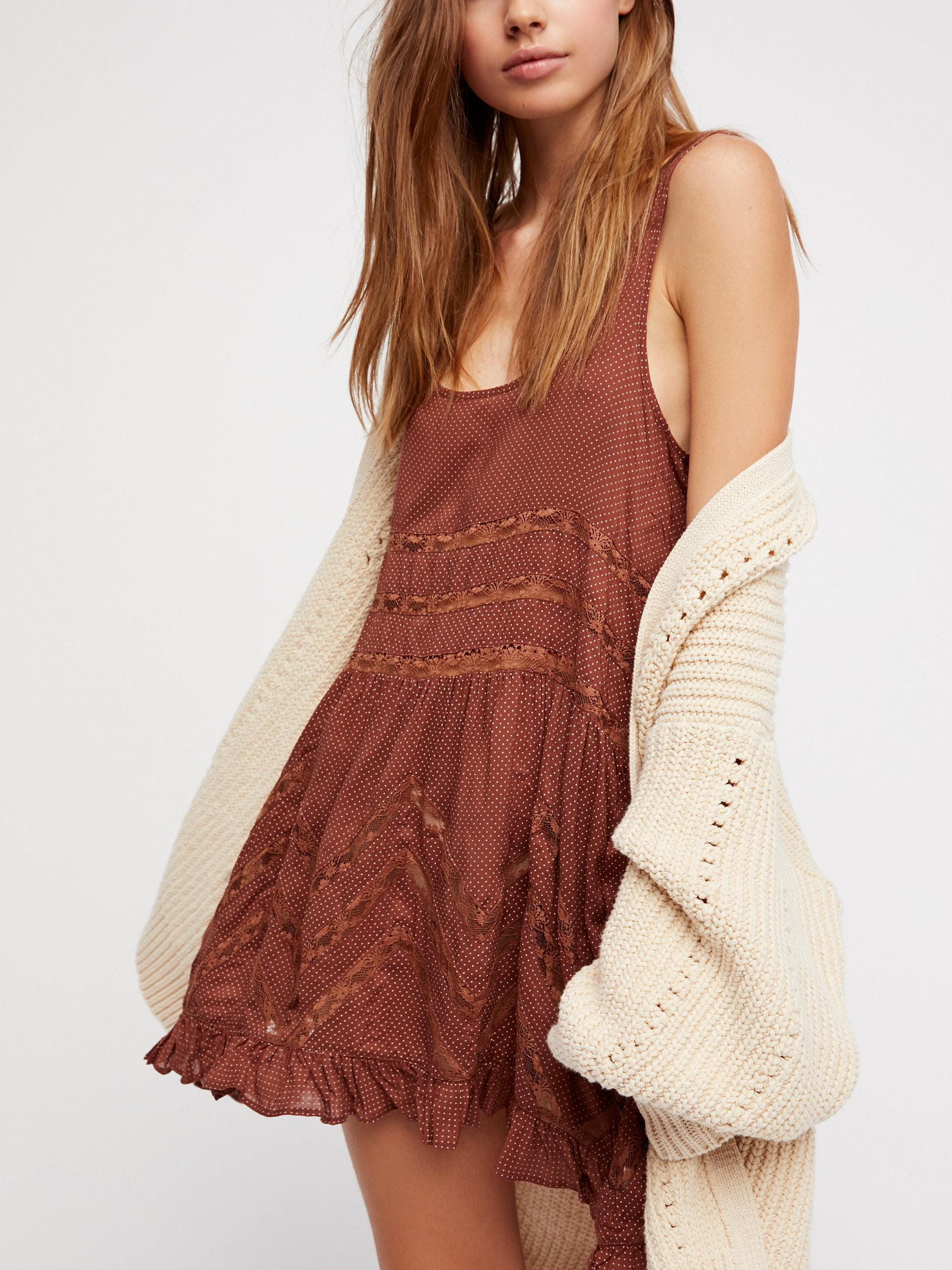 f257fed4a4679 Free People Voile And Lace Trapeze Slip - Lyst