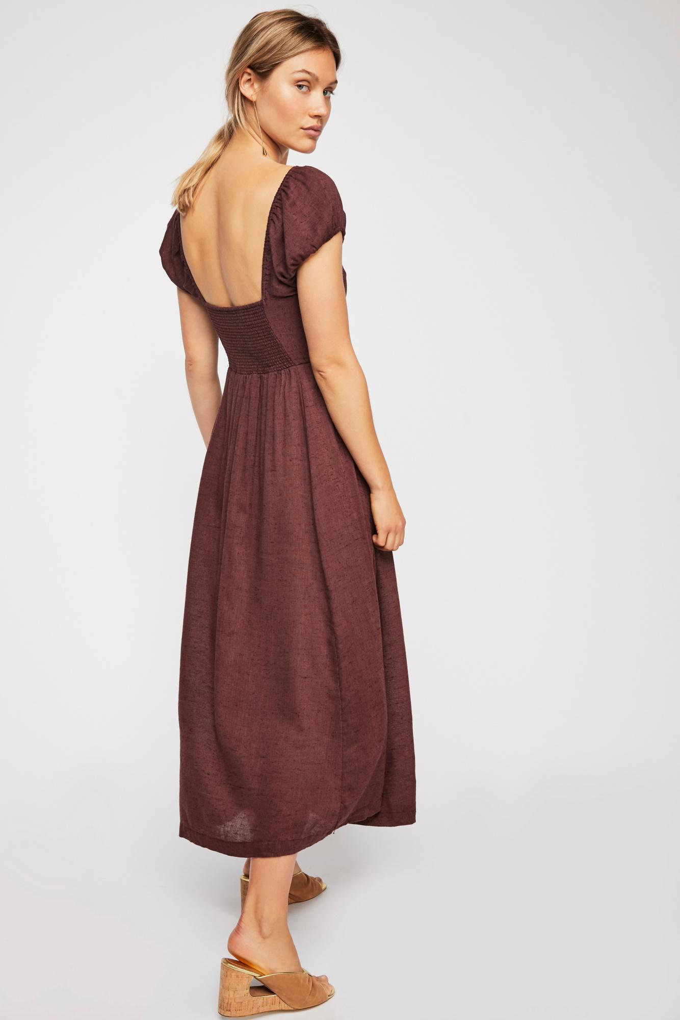 a1001b11542c Lyst - Free People The Getaway Midi Dress By Endless Summer in Brown