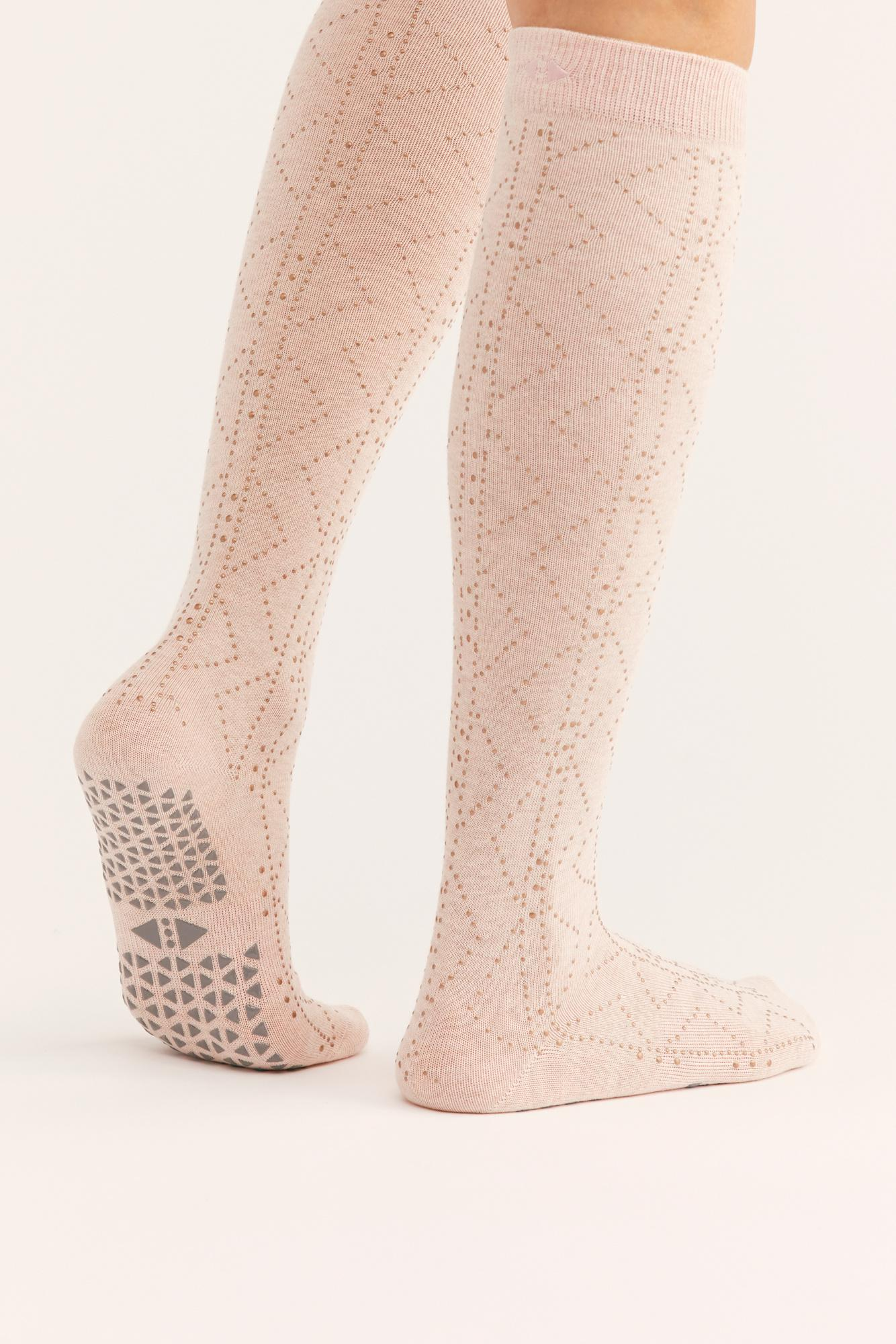 b229b353ae7 Free People. Women s Jane Studded Knee-high Grip Sock By Tavi Noir