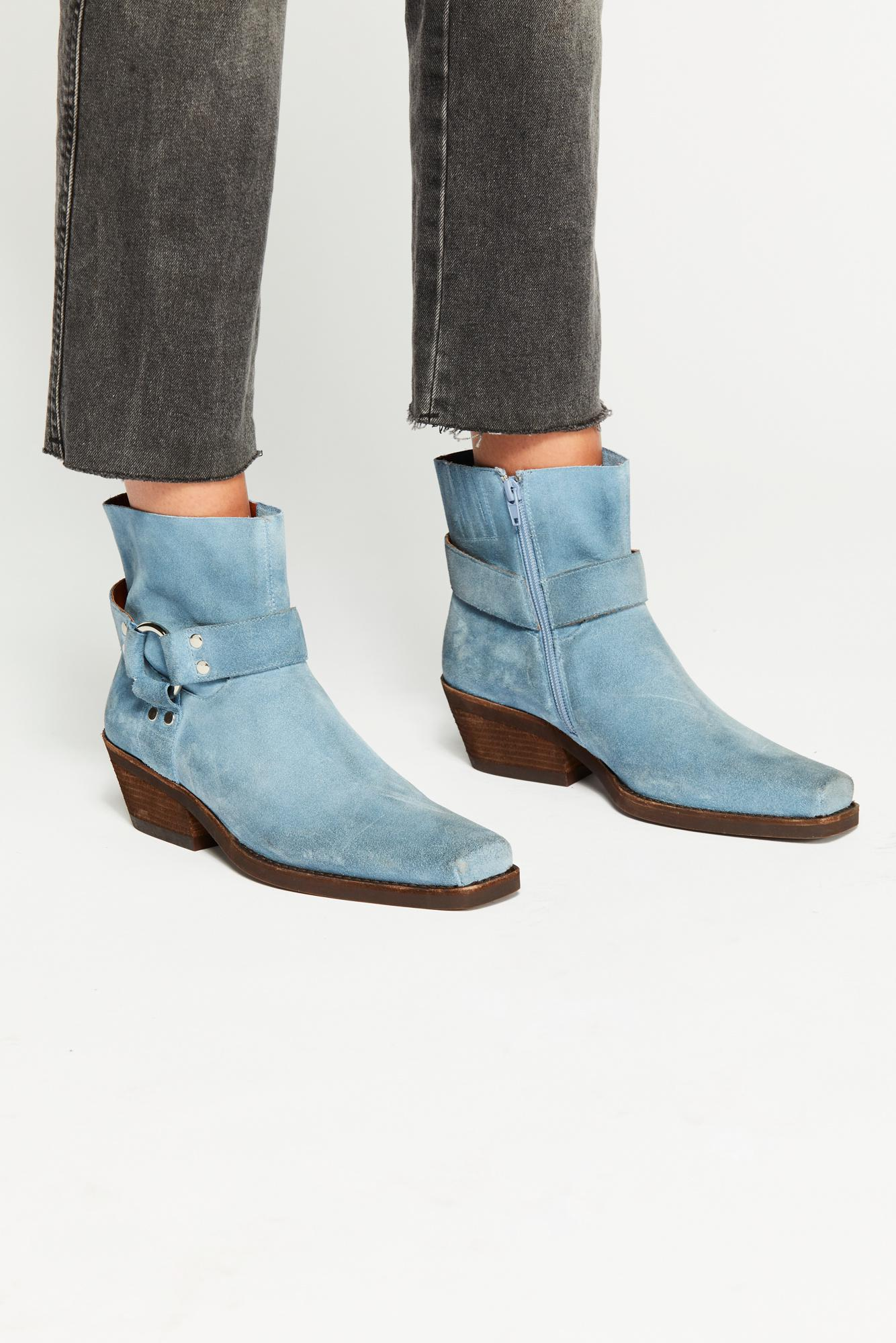 00f618164af Free People Blue Fairfax Western Boot By Jeffrey Campbell